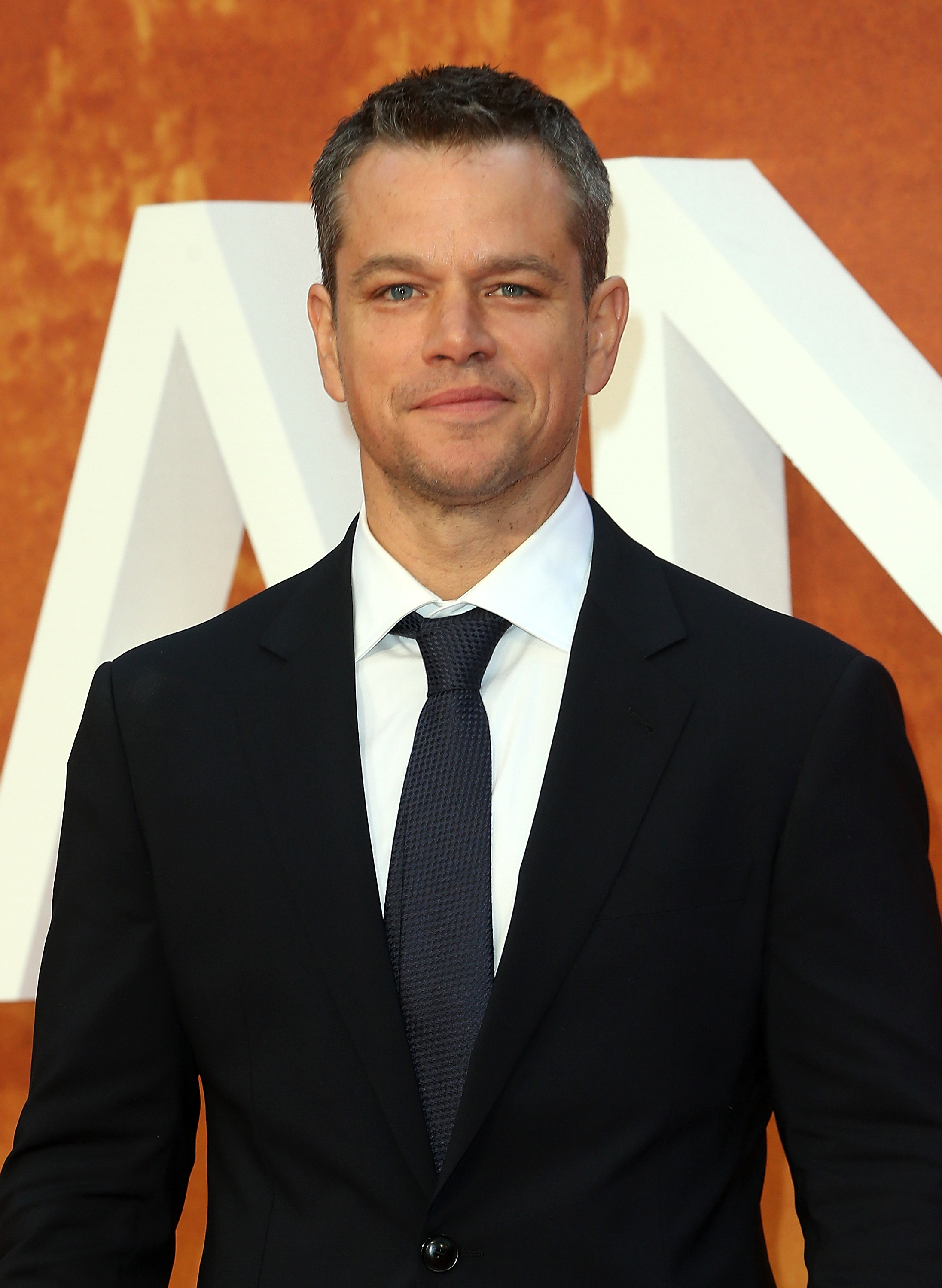 Matt Damon attends the European premiere of  The Martian  at Odeon Leicester Square on September 24, 2015 in London, England.