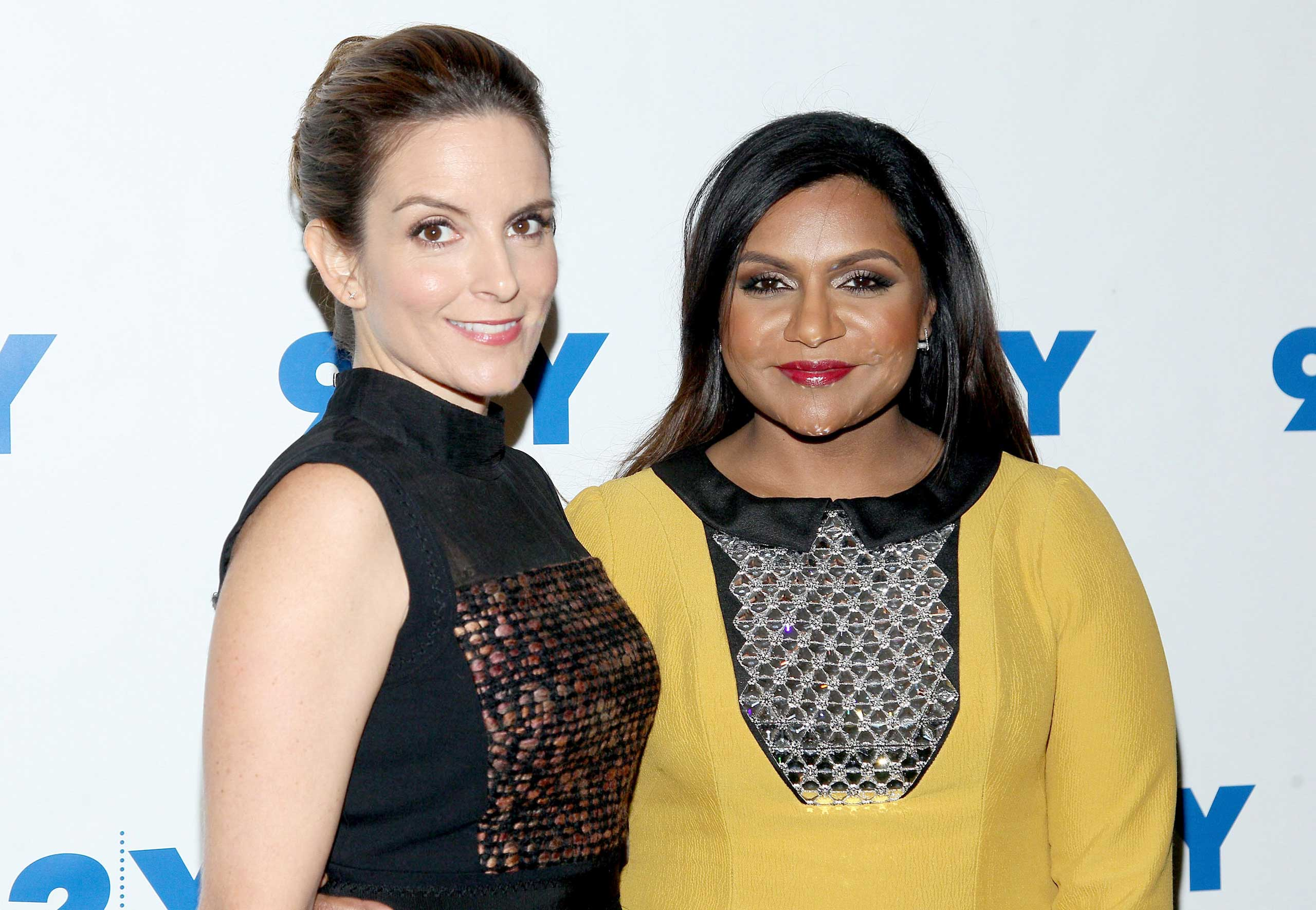 Tina Fey and Mindy Kaling attend 92nd Street Y Presents: Mindy Kaling In Conversation With Tina Fey at 92nd Street Y in New York City, on Sept. 16, 2015.