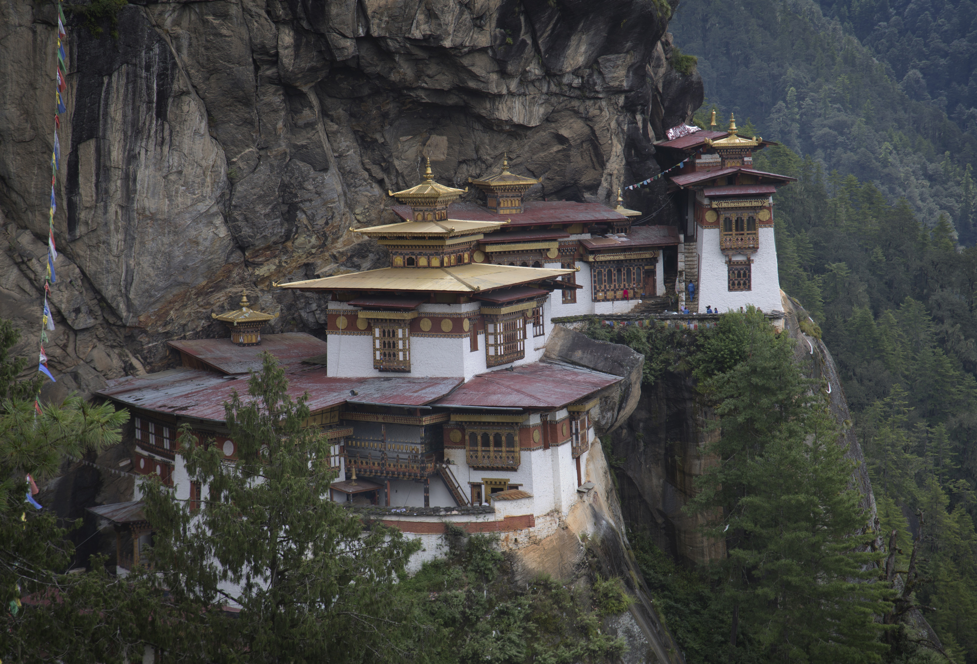 Paro, Bhutan - September 7, 2013 : Taktsang Palphug Monastery, or The Tiger's Nest Temple, near Paro, Bhutan on September 7, 2013. Bhutan, a Buddhist kingdom which allows only a limited number of travelers since it opened to foreigners in 1974 in order to preserve its fragile environment and culture, has become an increasingly popular destination for international tourists.  (Photo by Kuni Takahashi/Getty Images)