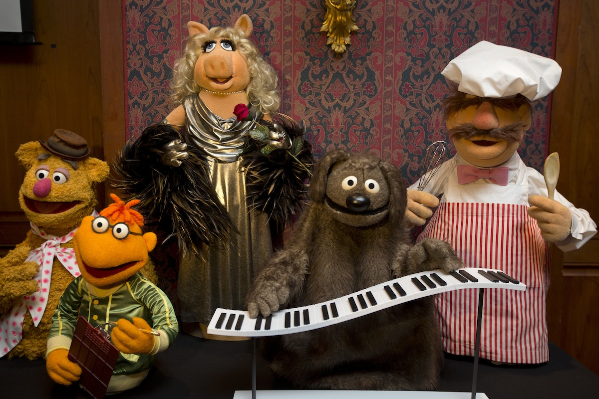 Fozzie Bear, left, Scooter, Miss Piggy, Rowlf, and the Swedish Chef are among Muppets from  The Muppet Show   donated to the Smithsonian's National Museum of American History,  in Washington, D.C., on  Sept. 24, 2013.