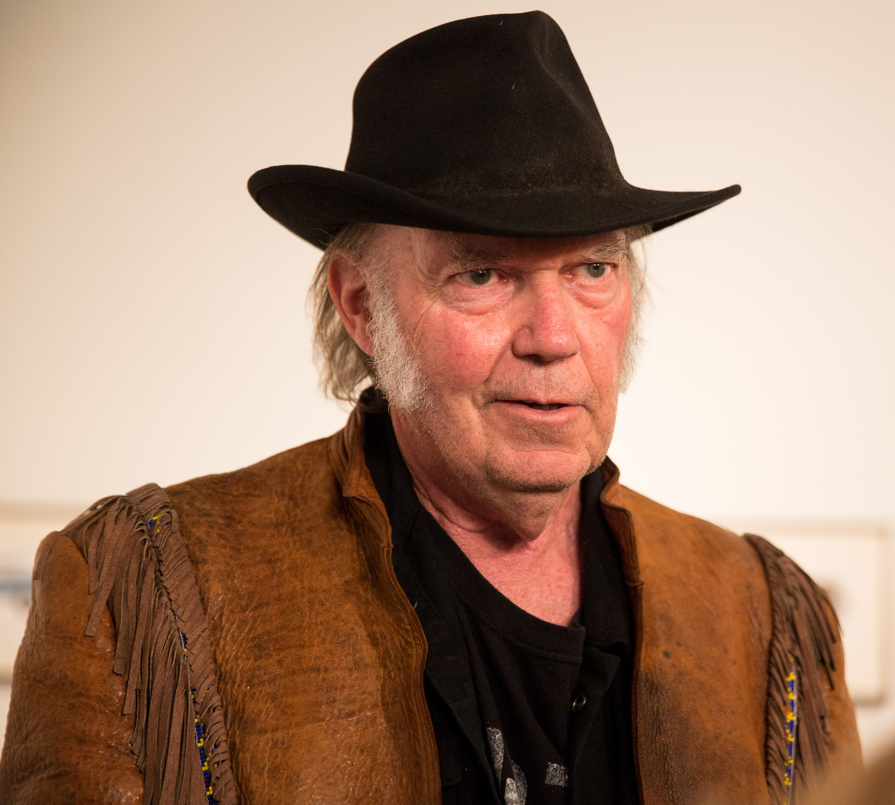 Neil Young attends his opening night reception for  Special Deluxe  at Robert Berman Gallery on Nov. 3, 2014 in Santa Monica, Calif.