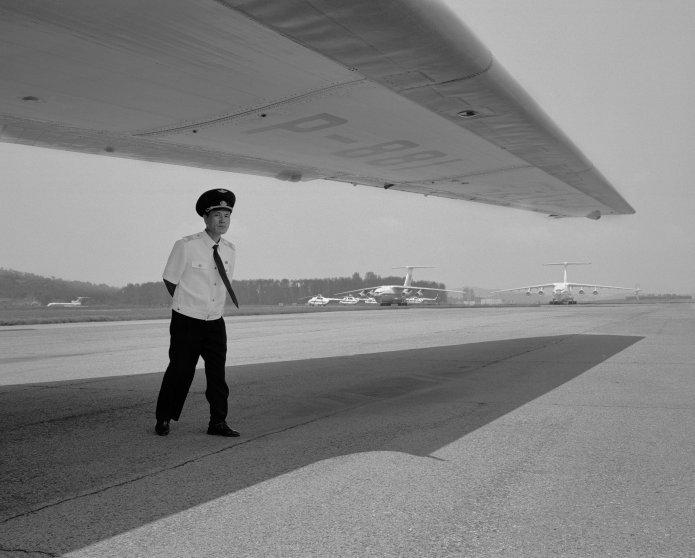 NORTH KOREA. Sunan International Airport. 2011.