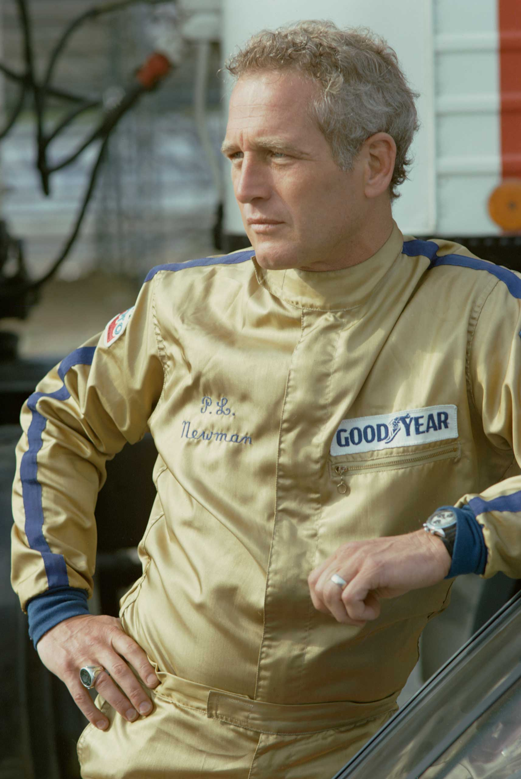 <b>Paul Newman</b>Photographed for TV Times in 1974.                                   The motorsport fanatic was snapped during an interview about his love of cars. He first took to the track for real after being cast in a 1969 racing film called <i>Winning</i>. A few years later, he came second in the famous Le Mans 24-Hour Race.