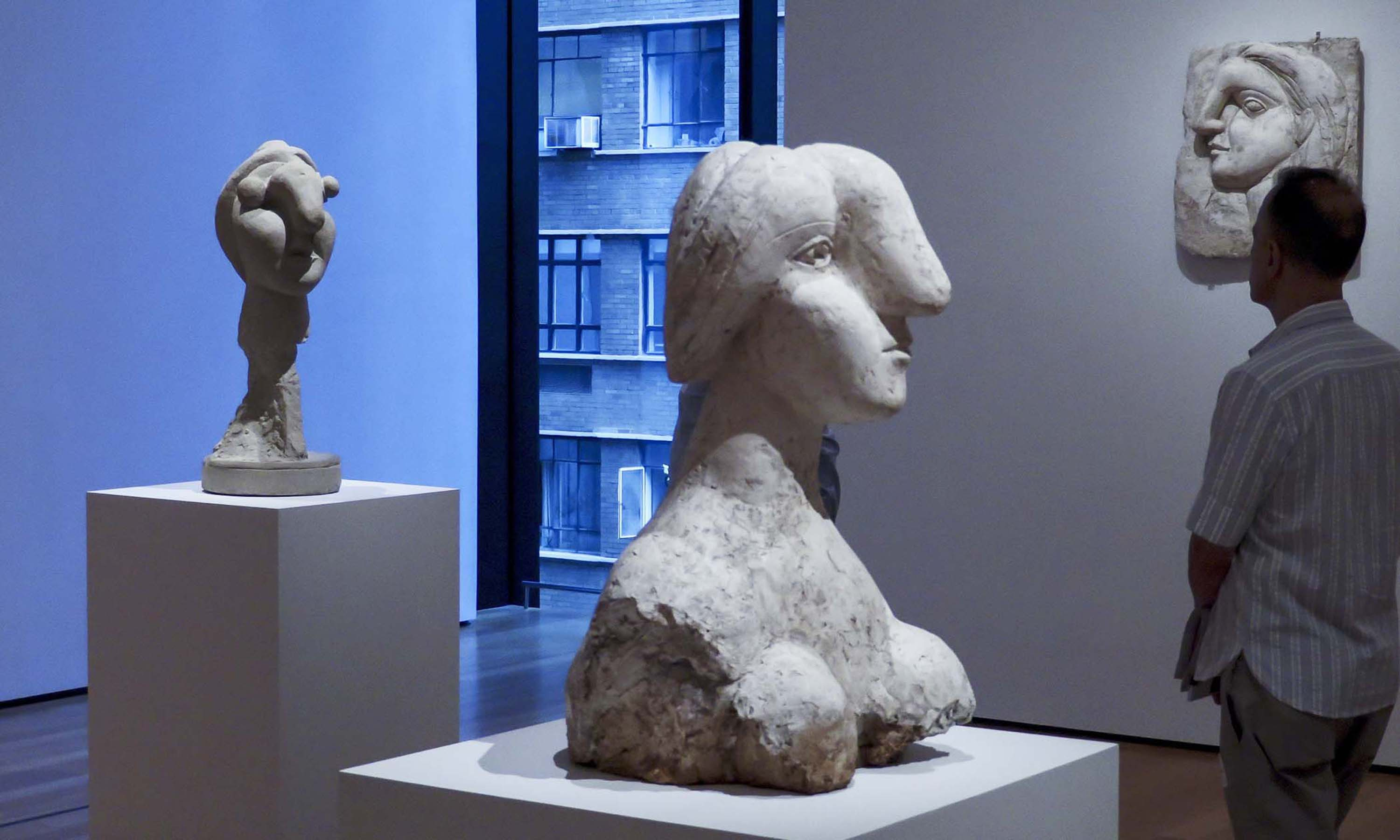 Picasso's mistress Marie-Thérèse Walter inspired these works in plaster from 1931
