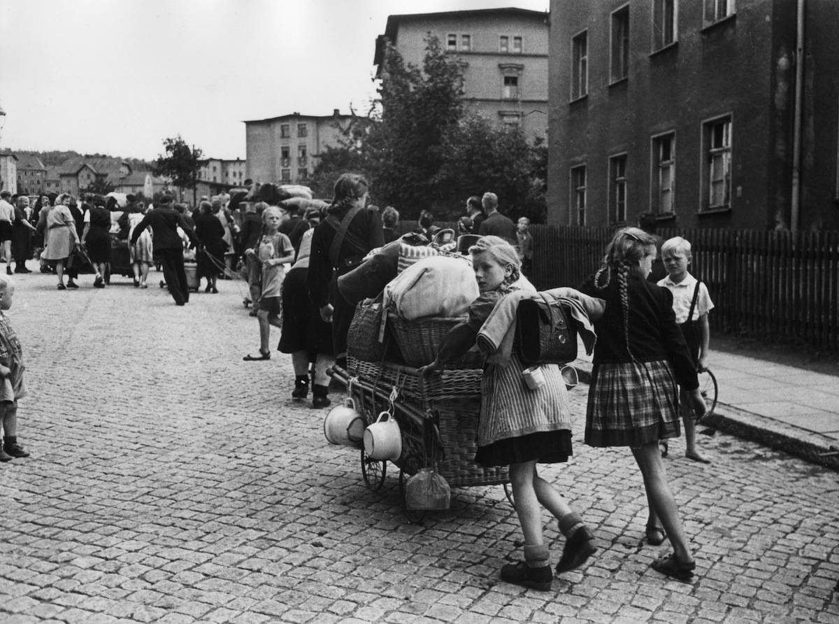 German refugees leaving Poland in 1951
