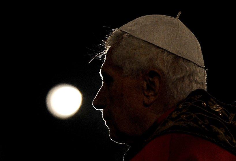 Pope Benedict XVI presides the Via Cruci
