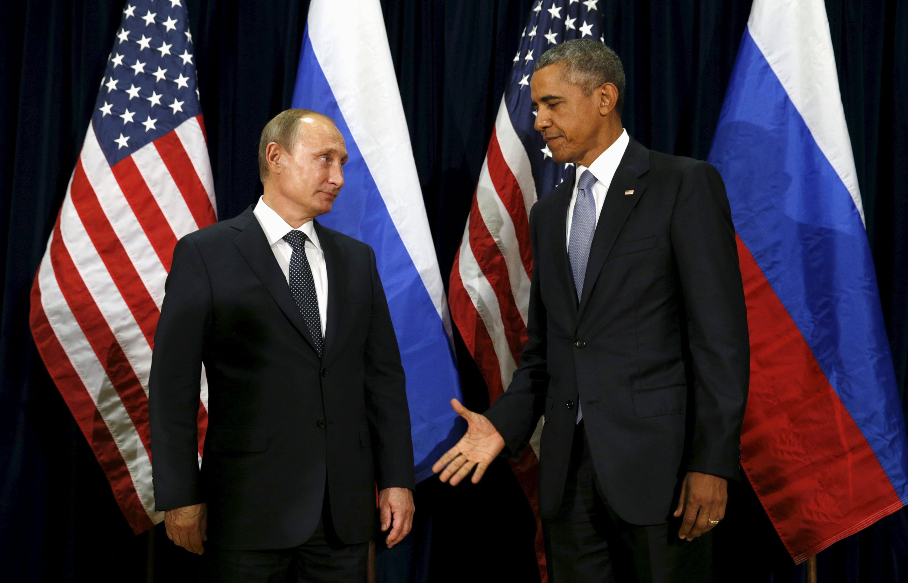 Putin and Obama discussed Syria at the U.N., meeting formally for the first time since 2013.