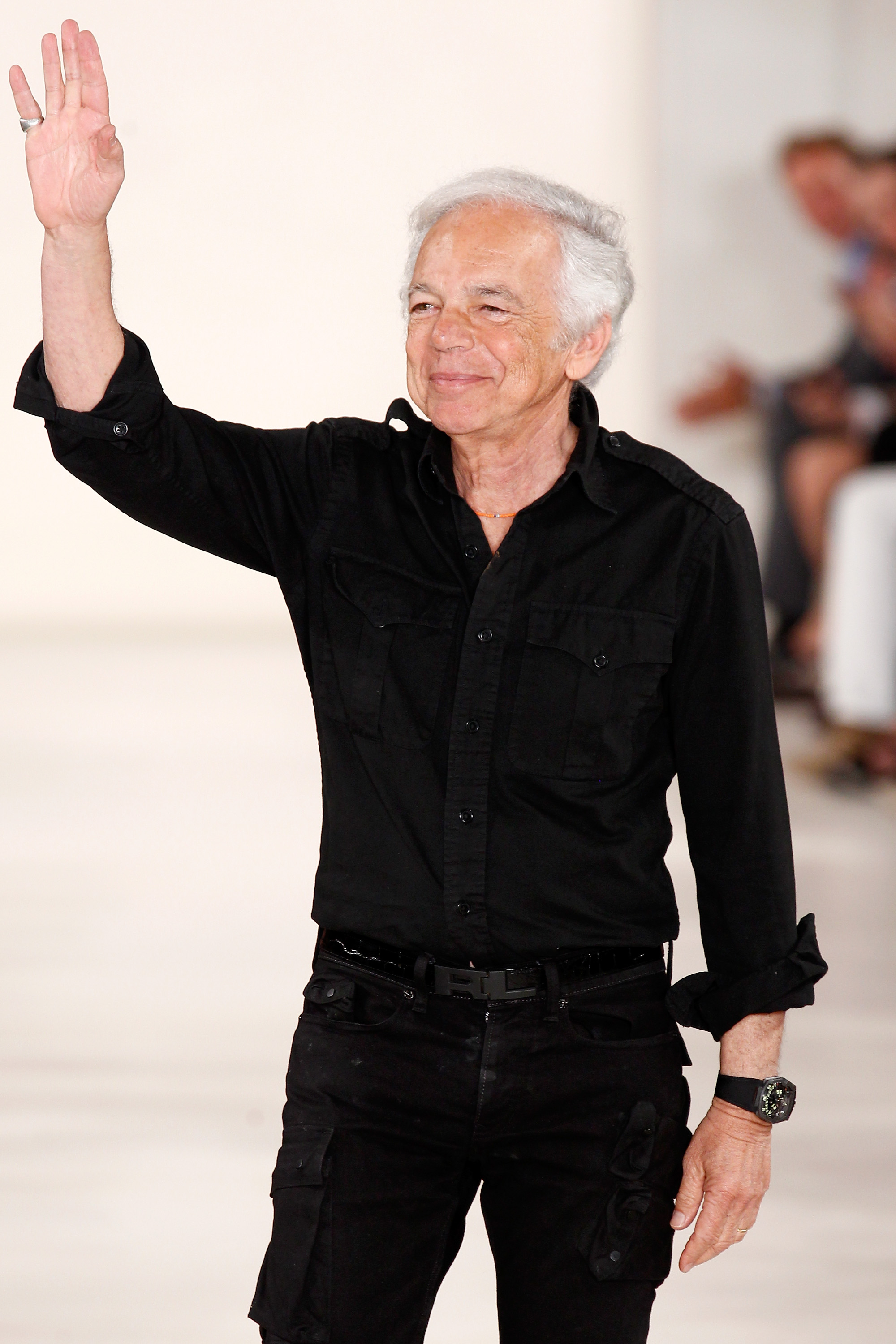 Ralph Lauren at the Ralph Lauren fashion show during Mercedes-Benz Fashion Week Spring 2015 in New York City on Sept. 11, 2014.