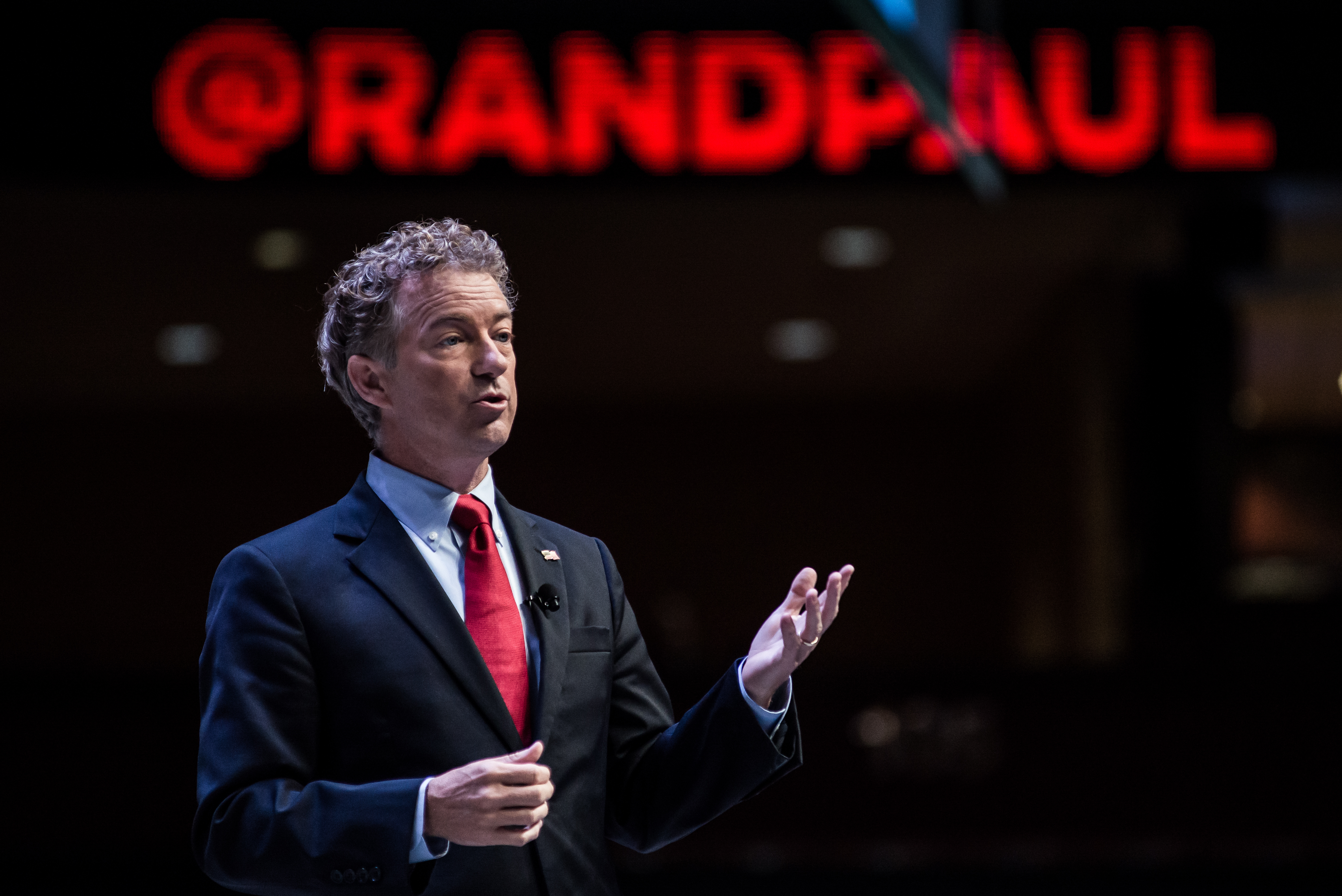 U.S. Sen. Rand Paul (R-KY) speaks to voters at the Heritage Action Presidential Candidate Forum in Greenville, S.C. on Sept. 18, 2015.
