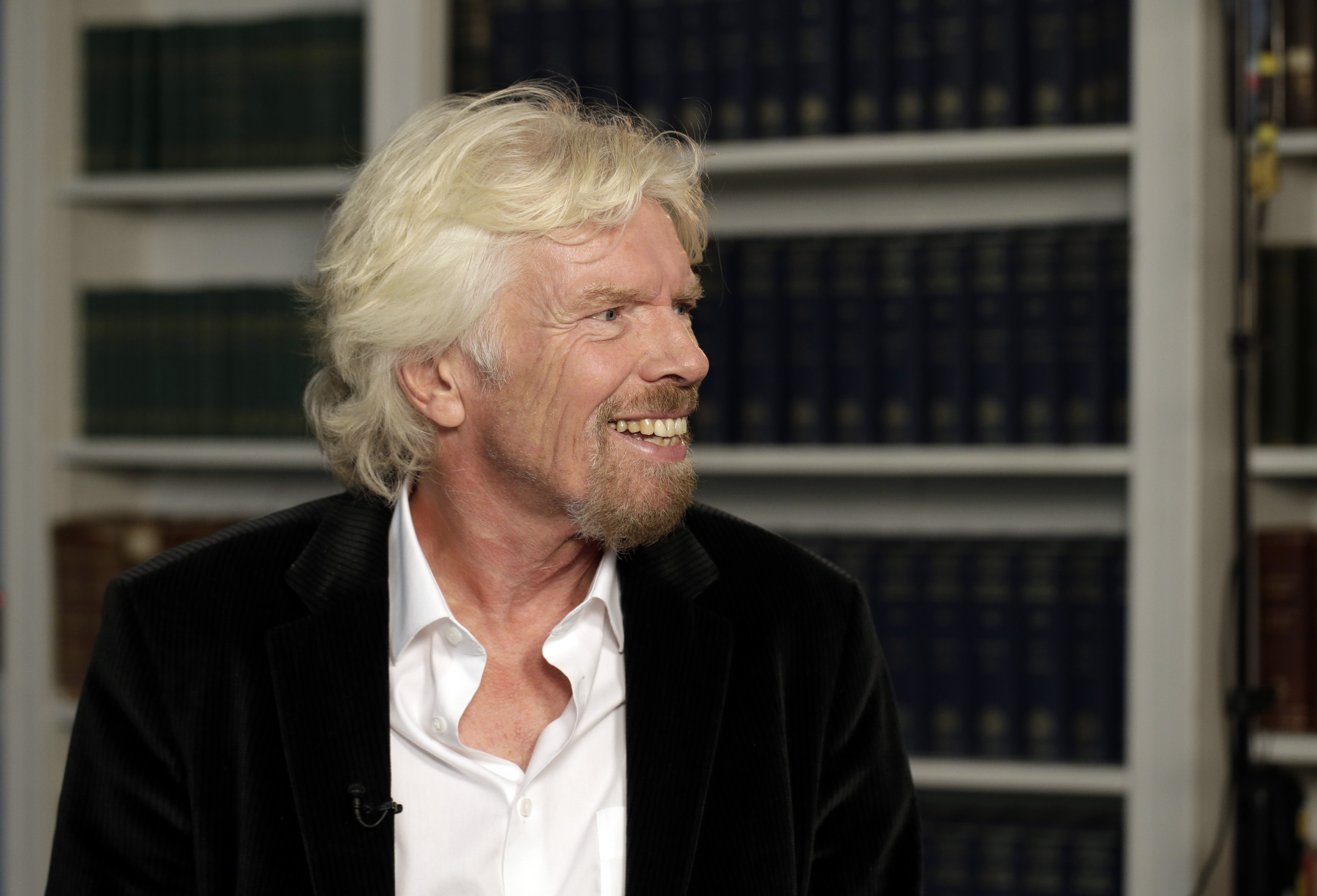 Richard Branson, founder of Virgin Group, during a Bloomberg Television interview in London, England on June 25, 2015.