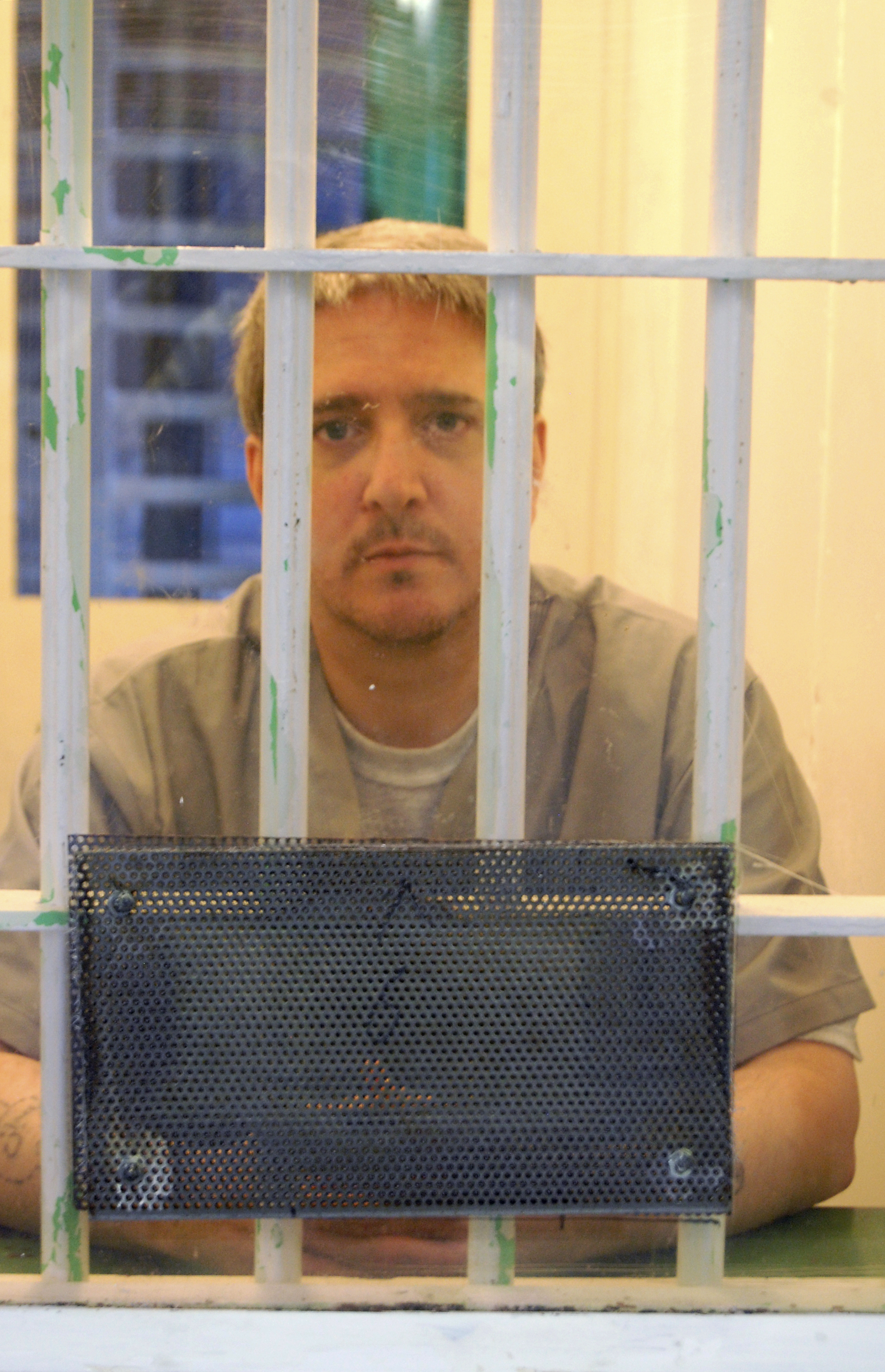 In a Nov. 21, 2014 photo, death row inmate Richard Glossip is pictured at the state penitentiary in McAlester, Ok.