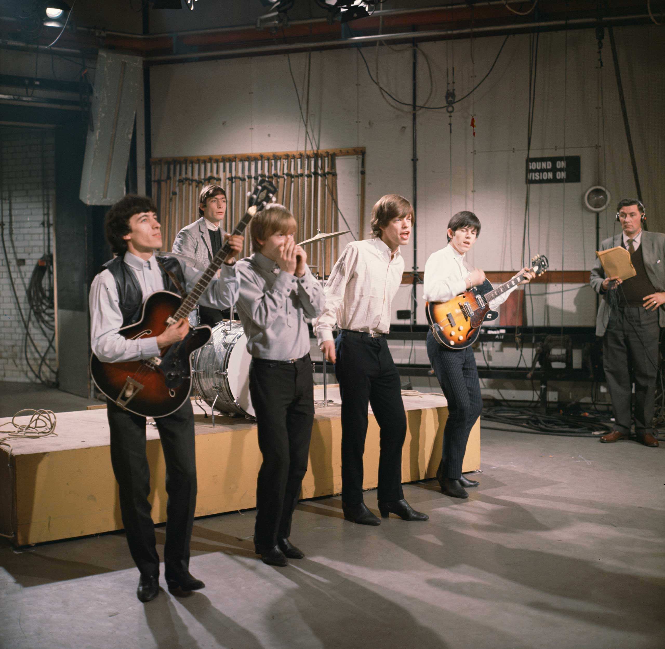<b>The Rolling Stones</b>                                   Photographed for TV Times in 1965, at the ITV studios in London. This was the year of their huge hit 'Satisfaction'.