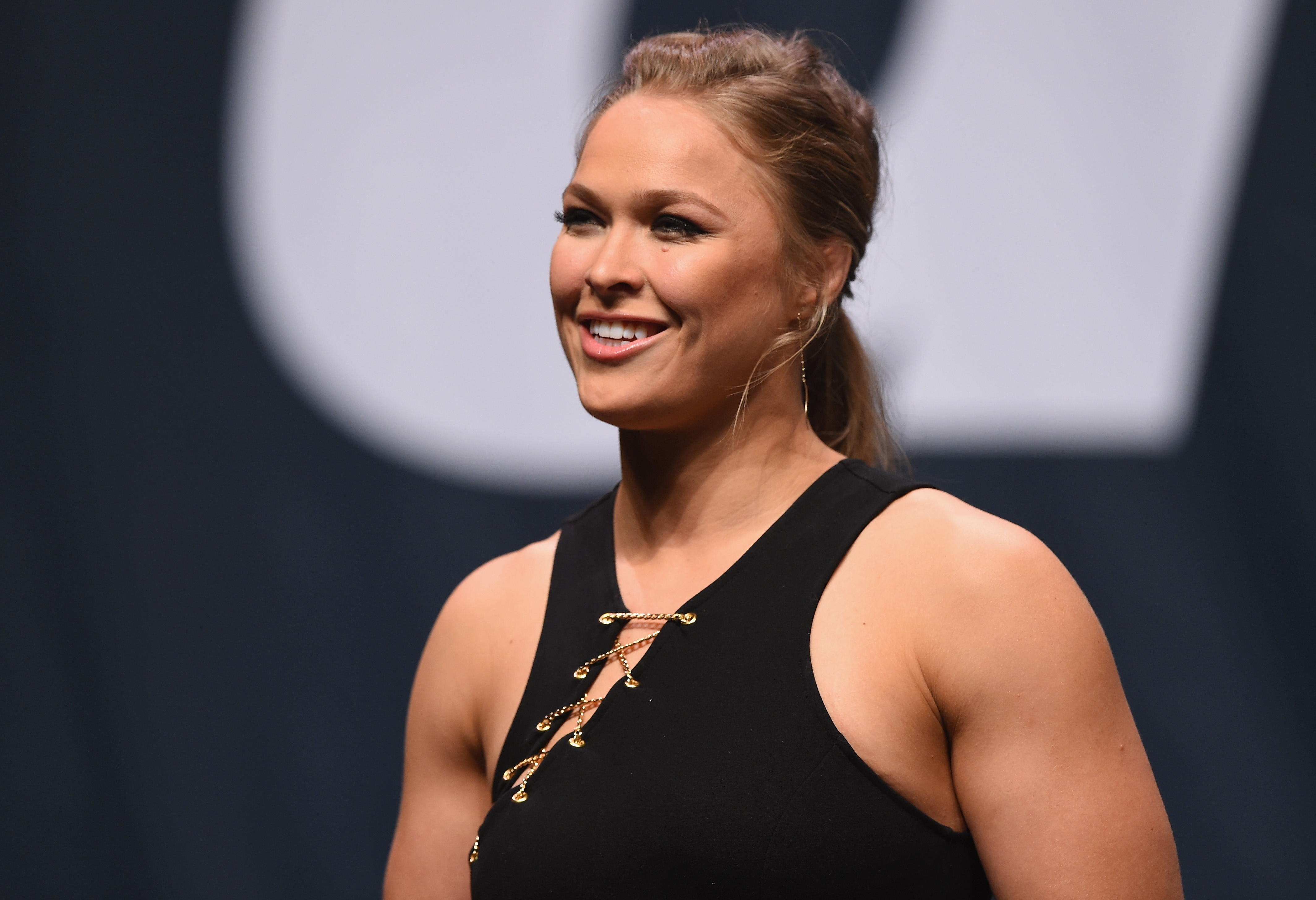 Ronda Rousey at the UFC's Go Big launch event in Las Vegas on Sept. 4, 2015.
