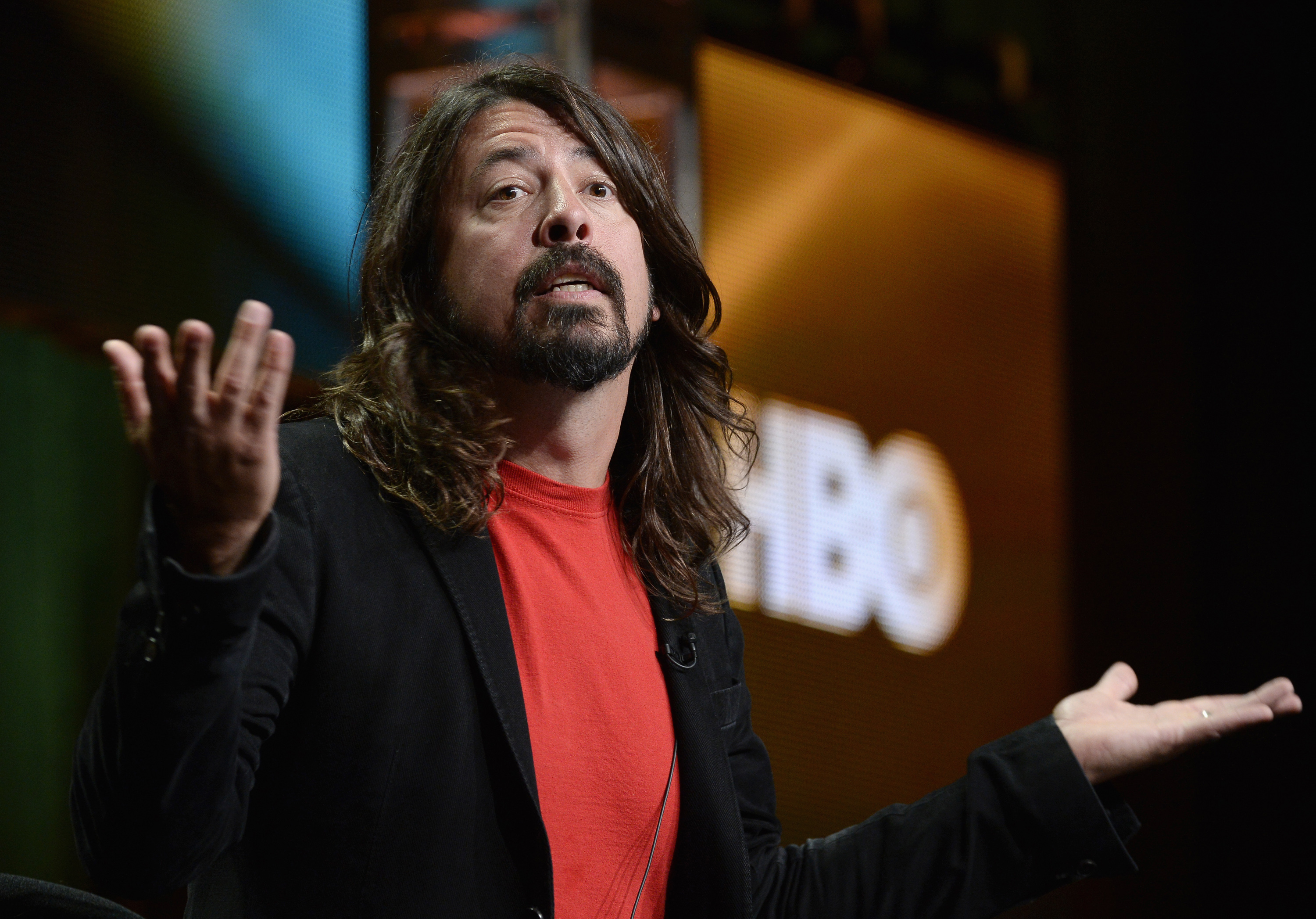 Musician Dave Grohl, director of  Foo Fighters: Sonic Highways,  during HBO's portion of the 2014 Television Critics Association Cable Summer Press Tour in Beverly Hills, California July 10, 2014.  REUTERS/Kevork Djansezian   (UNITED STATES - Tags: ENTERTAINMENT) - RTR3Y3BC