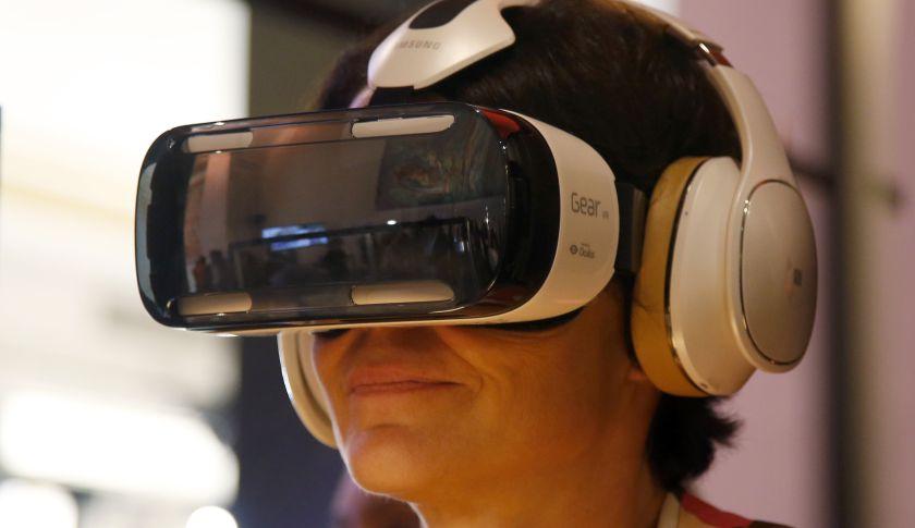 Oculus-powered Samsung Gear VR headset.