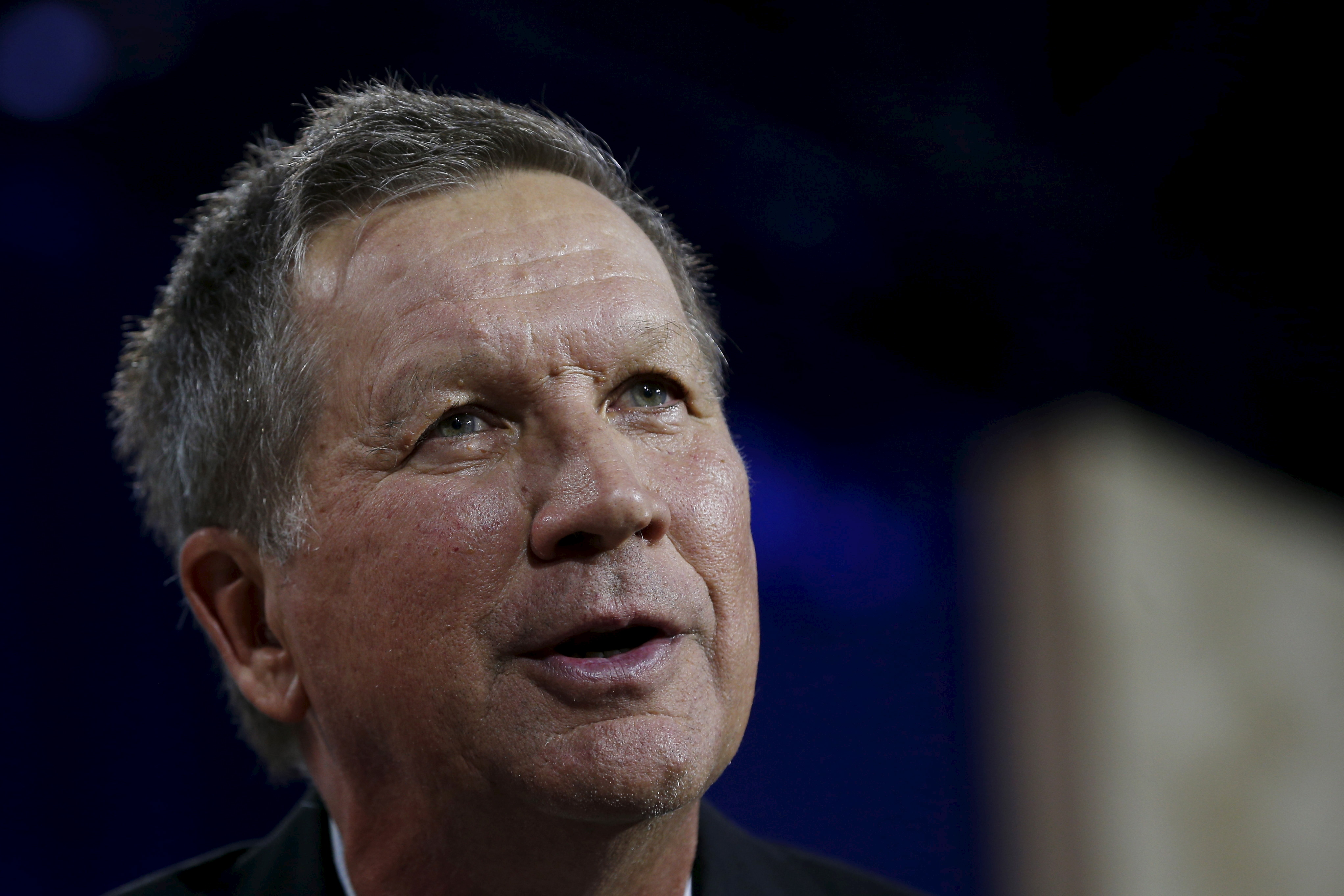 U.S. Republican presidential candidate and Ohio Governor John Kasich speaks at the New Hampshire Education Summit in Londonderry, New Hampshire Aug. 19, 2015