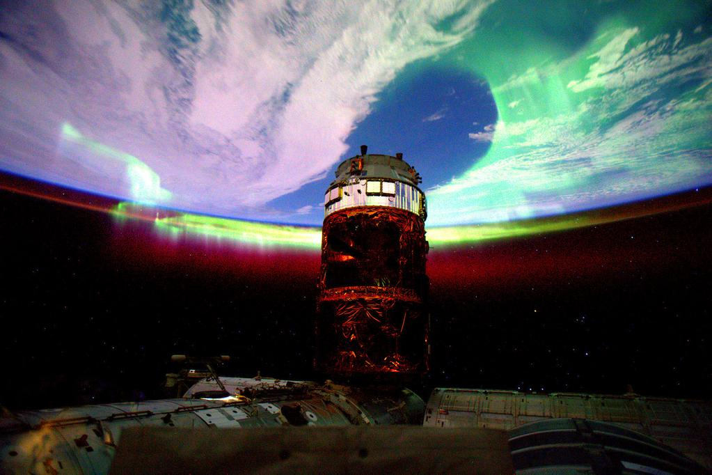 #Aurora seen in a new light with a different camera lens. #YearInSpace  - via Twitter on Aug. 28, 2015