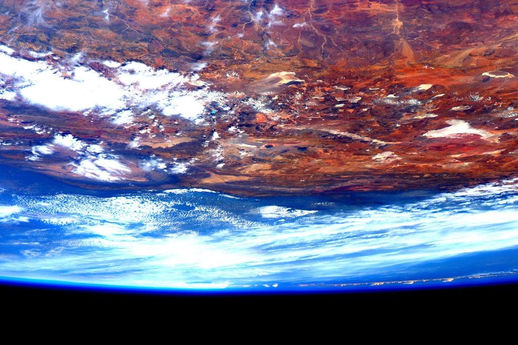 OK, I'm back! As promised here's a photo over South America I took as we began our #TweetChat  - via Twitter on Sept. 19, 2015