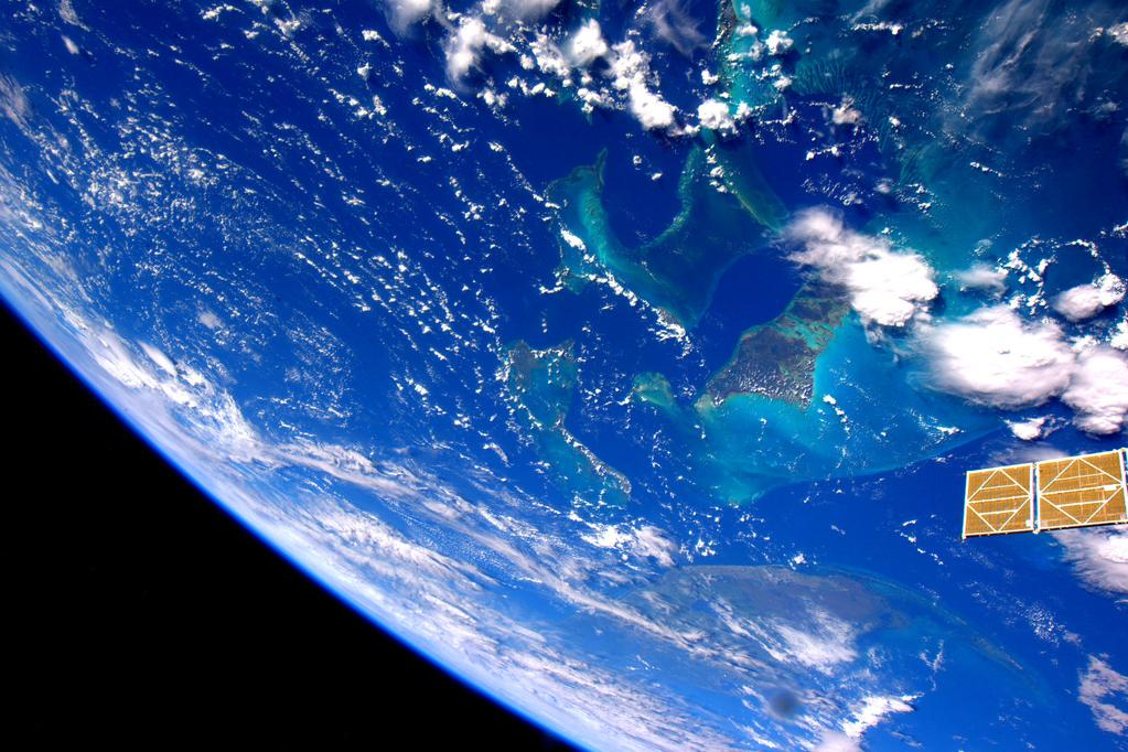 #Bahamas. Save me a spot on your beach! Yes, that one, right there. #YearInSpace  - via Twitter on Sept. 21, 2015