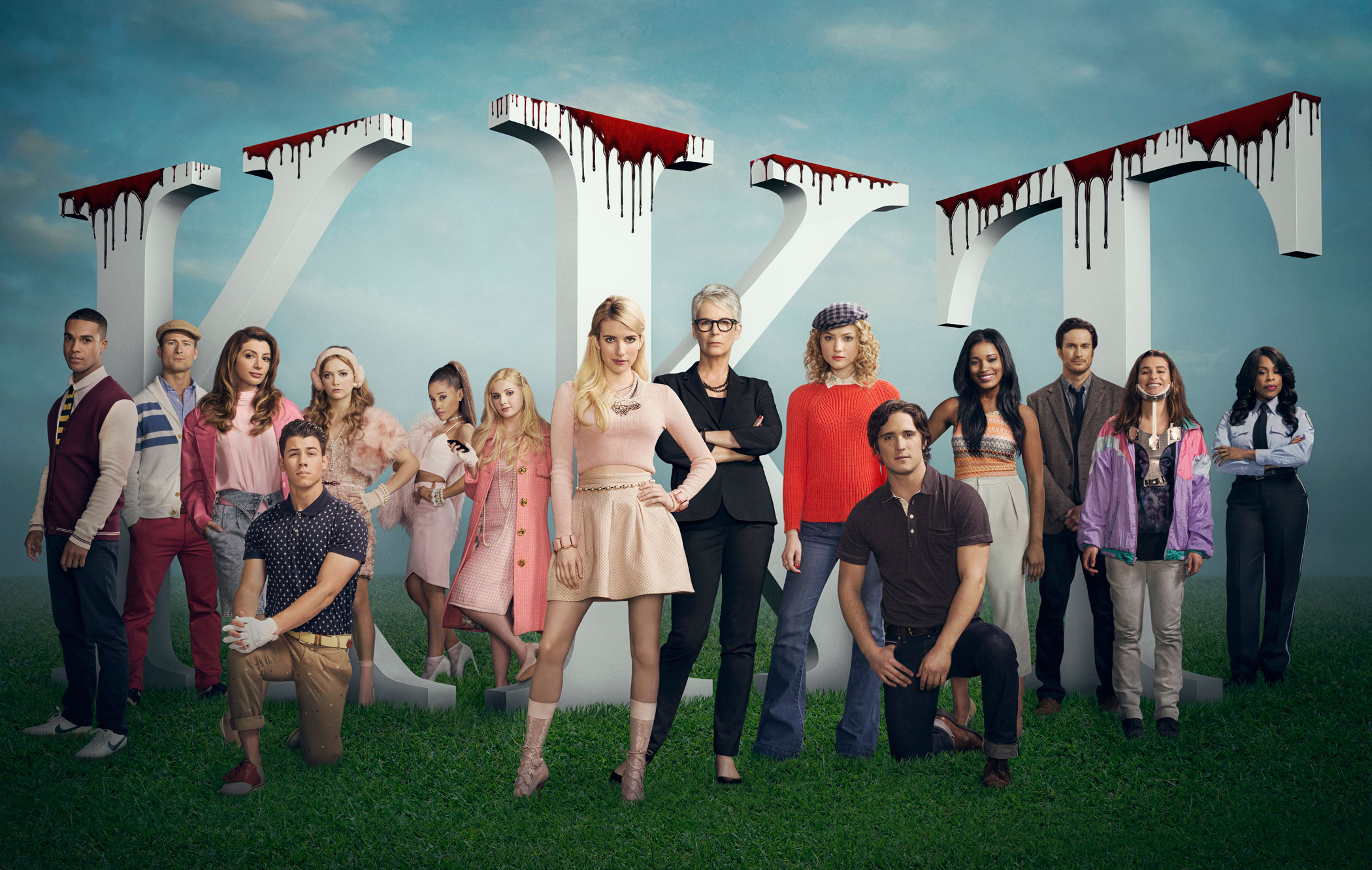 The cast of Fox's Scream Queens.