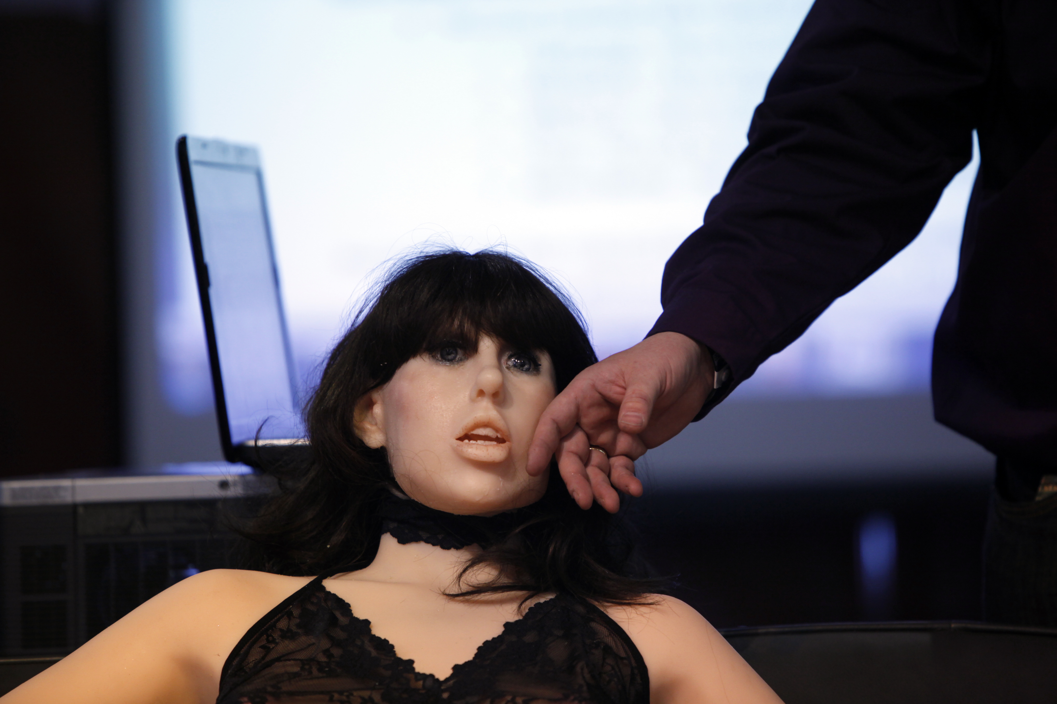 A life-size rubber doll named Roxxxy is on display during the Adult Entertainment Expo on Jan. 9, 2010 in Las Vegas.