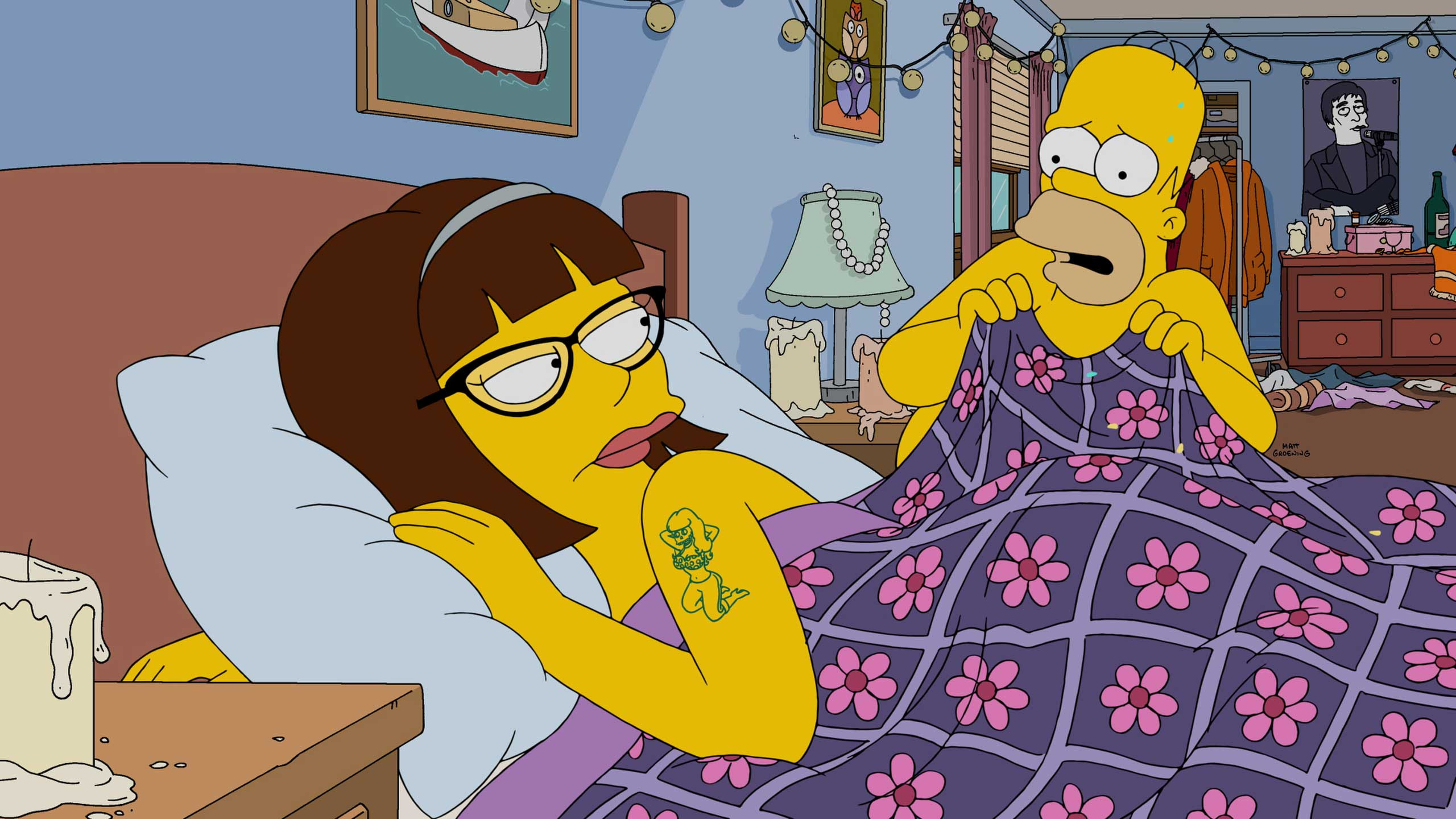 Lena Dunham guest voices in the  Every Man's Dream  season 27 premiere episode of THE SIMPSONS.
