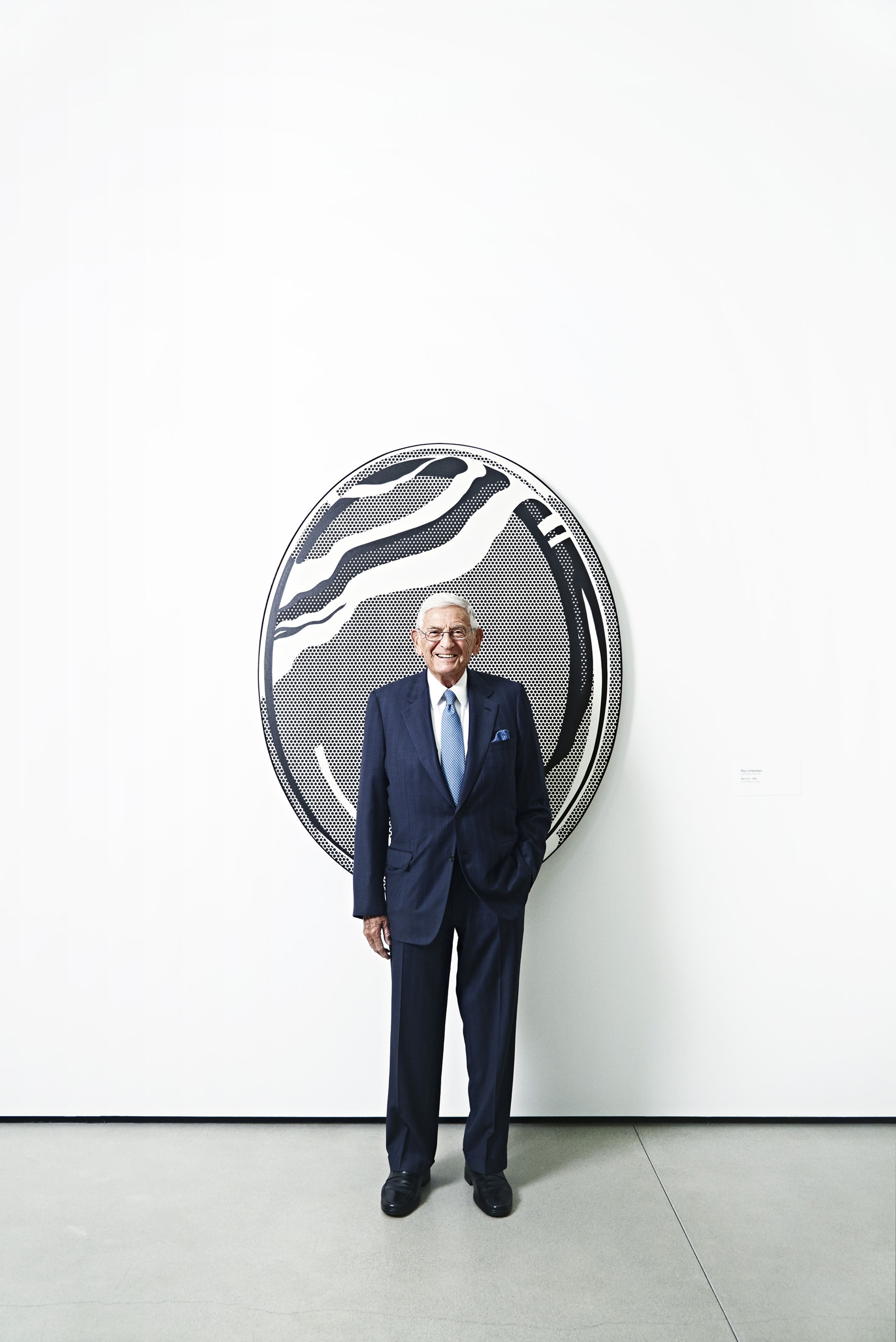 Philanthropist Eli Broad at the new Broad Museum in Los Angeles on Sept. 18th, 2015.