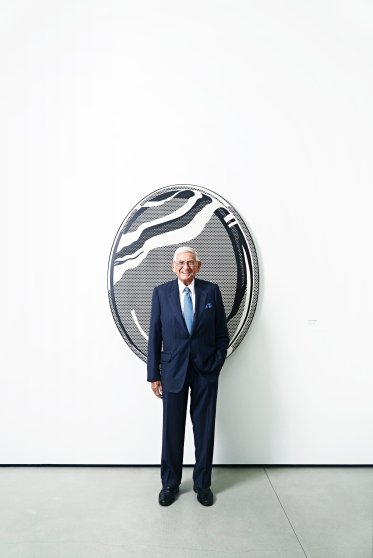 Philanthropist Eli Broad at the new Eli Broad Museum in Los Angeles