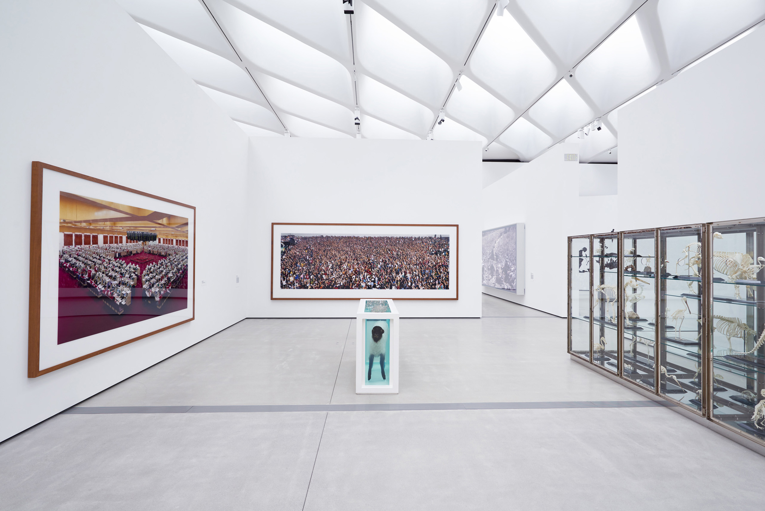 A view of the interior of The Broad Museum in Los Angeles on Sept. 18th, 2015.