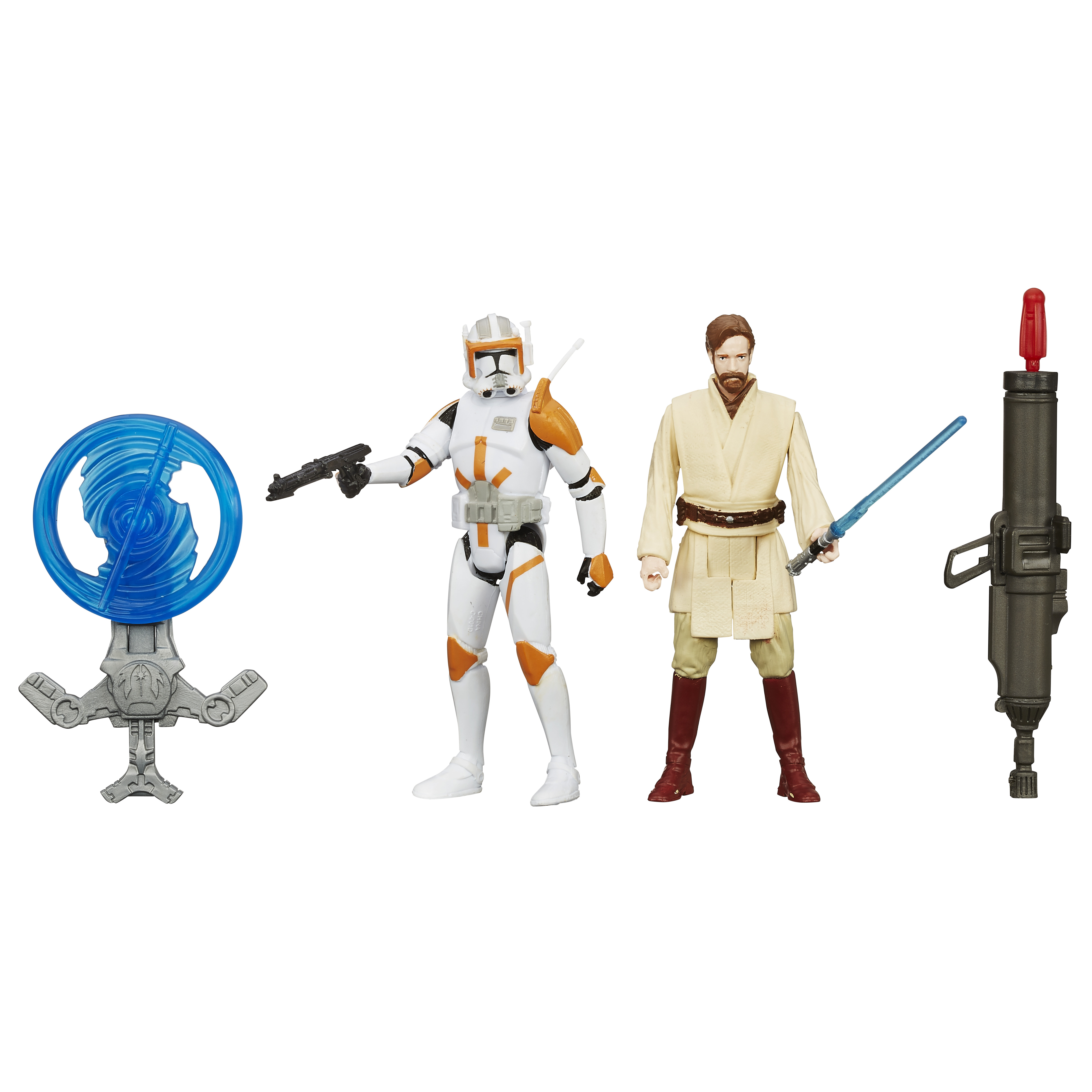 <b>Star Wars <i>The Force Awakens</i></b>; Stormtrooper Commander and Obi Wan Kenobi