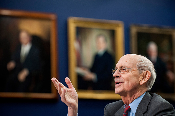 Supreme Court Justice Stephen Breyer testifies before the Financial Services and General Government Subcommittee during a hearing on the budget  for the Supreme Court in Washington, District of Columbia, U.S., on Monday, March 23, 2015.