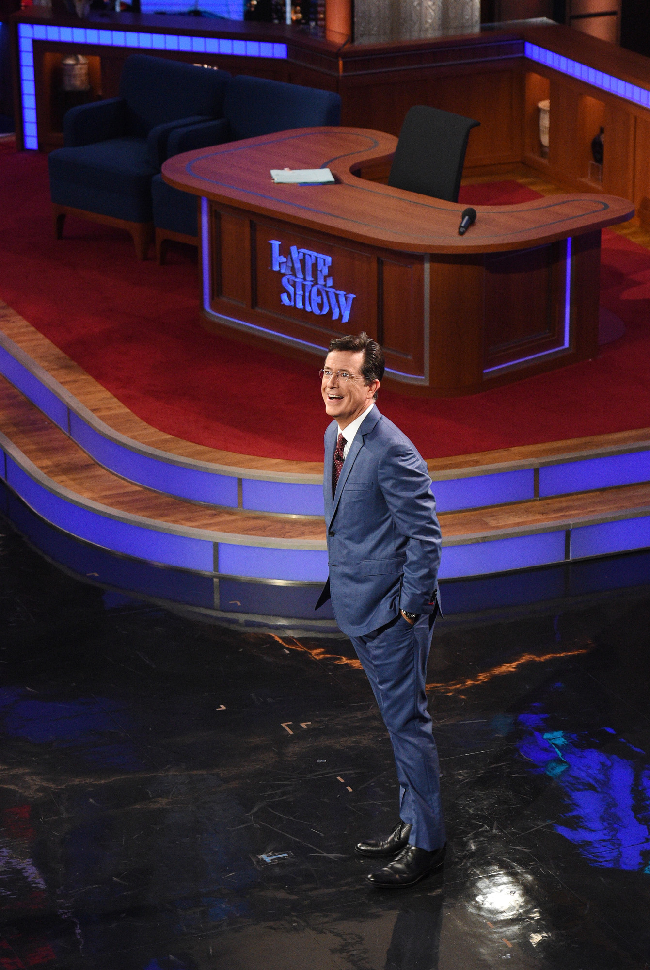 Stephen Colbert during the premiere episode of  The Late Show with Stephen Colbert  on Sept. 8, 2015.