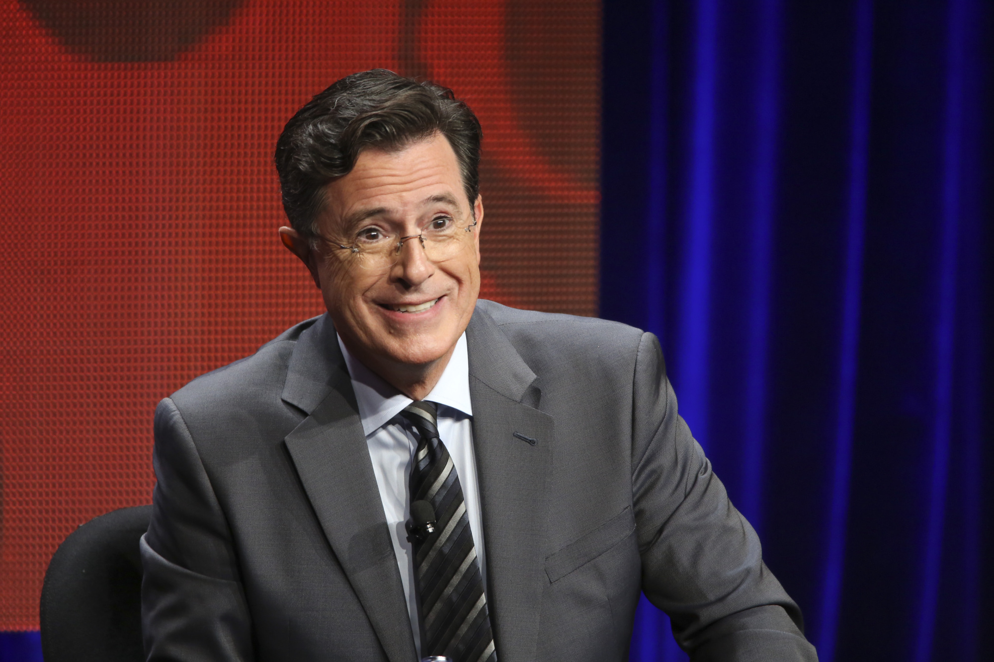 Stephen Colbert at the TCA Summer Press Tour 2015 in Los Angeles on Aug. 10, 2015.