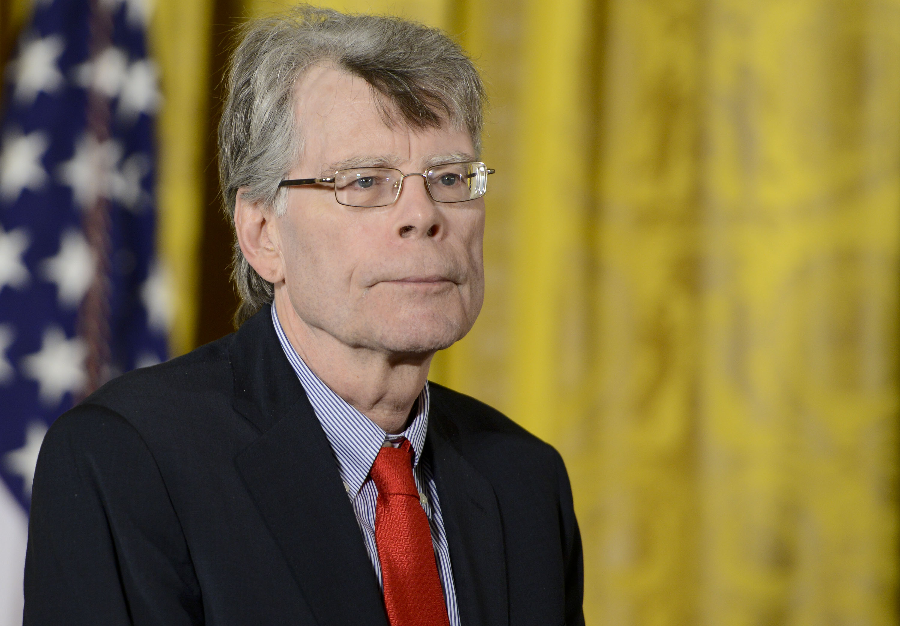 Stephen King is presented with the 2014 National Medal of Arts at The White House in Washington on Sept. 10, 2015.