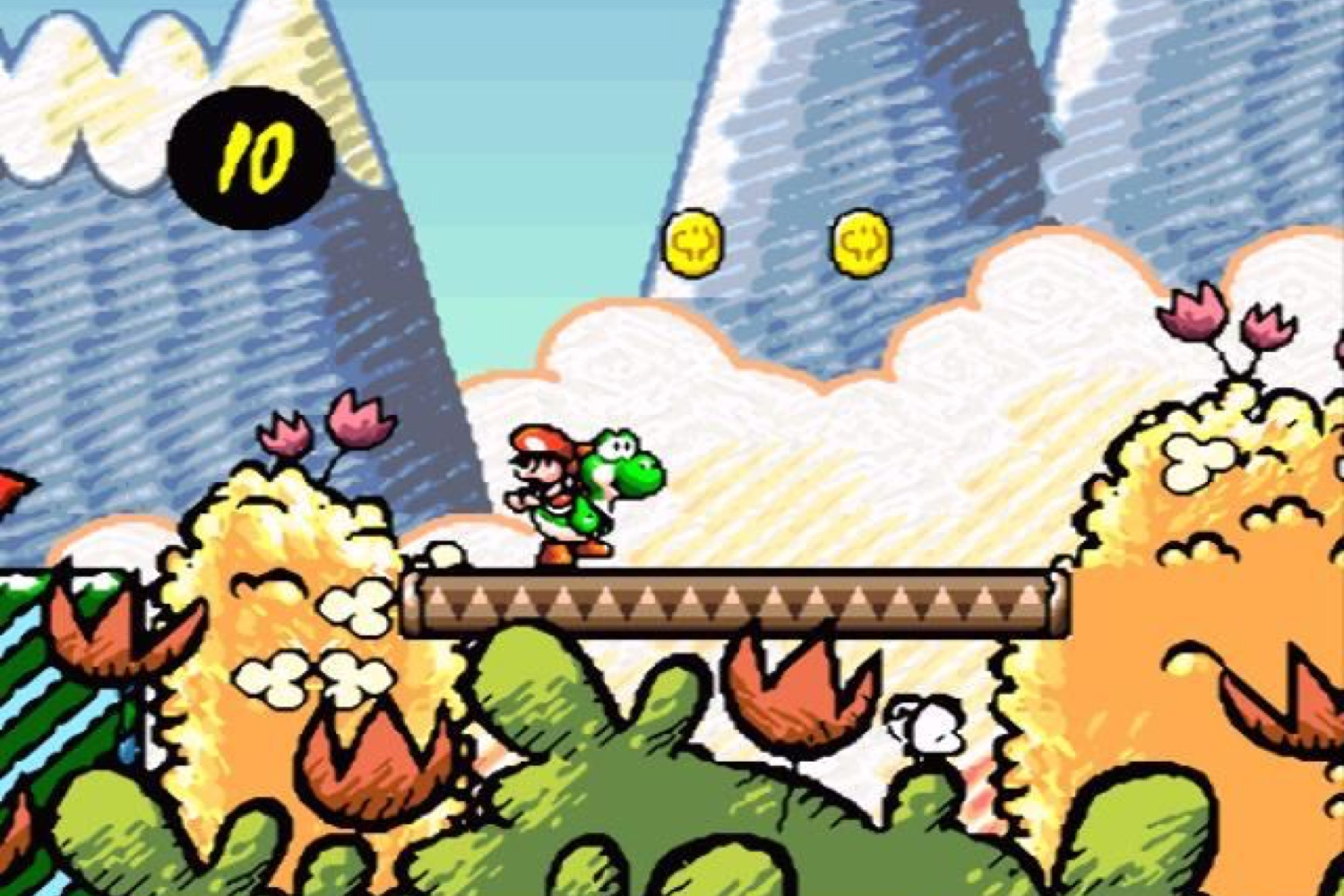 1995: Super Mario World 2: Yoshi's Island                                                              This prequel to Super Mario World challenged players to take the reins as Yoshi, schlepping a toddling Mario through dozens of beautifully hand-drawn levels, in order to rescue Mario's brother Luigi.