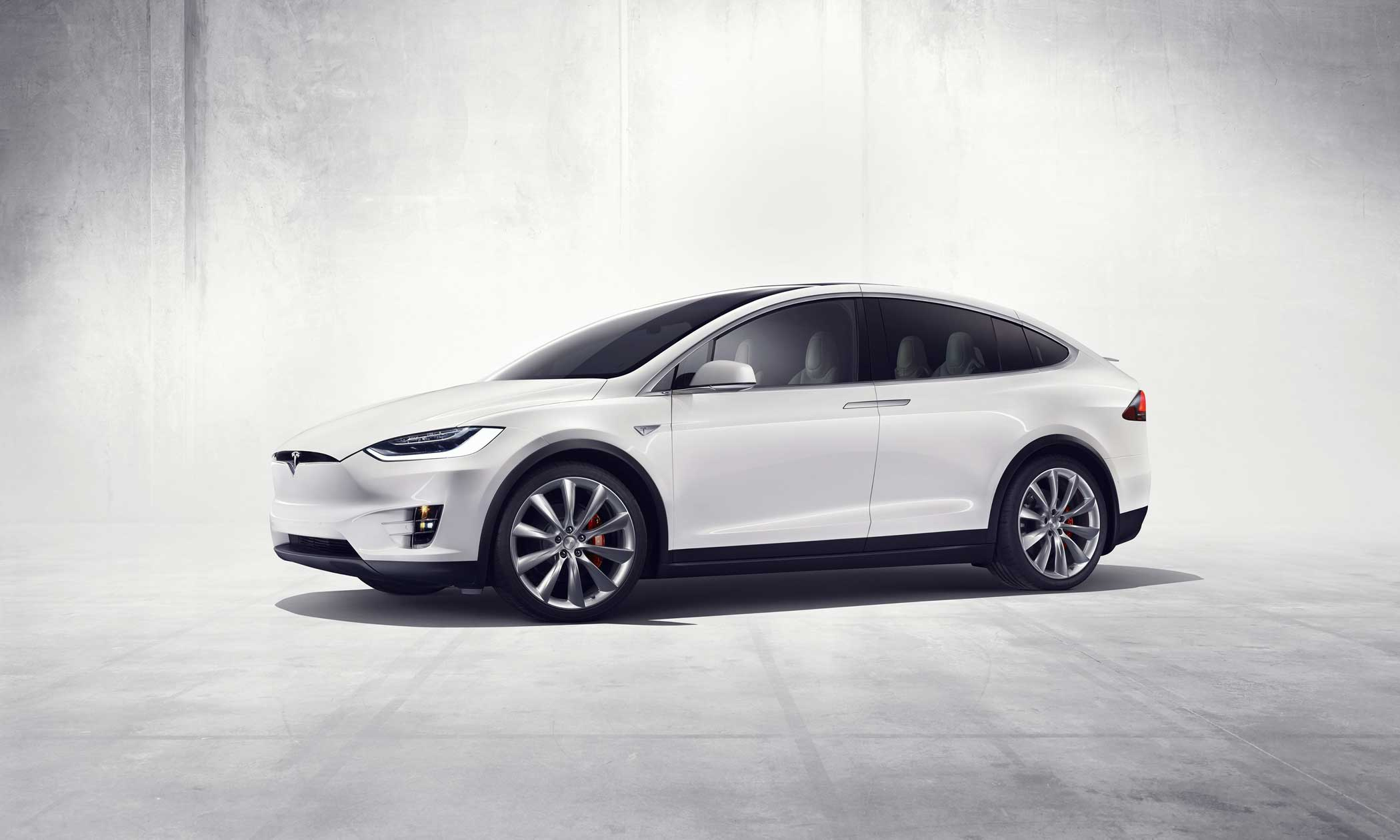 Electric car maker Tesla Motors launched its first sport-utility vehicle, the Model X, in Fremont, California, Sept. 2015.