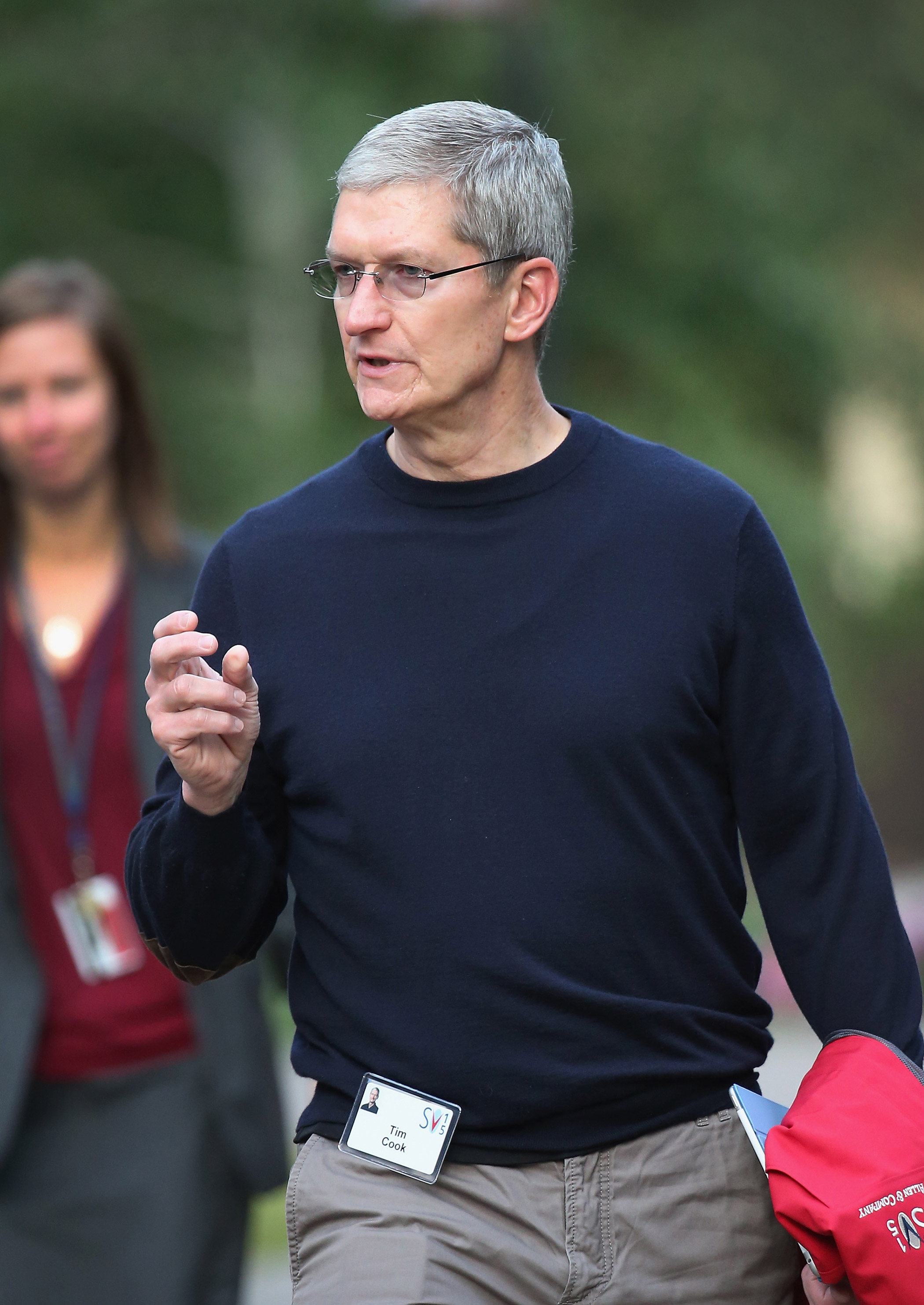 Tim Cook on July 9, 2015 in Sun Valley, Idaho.