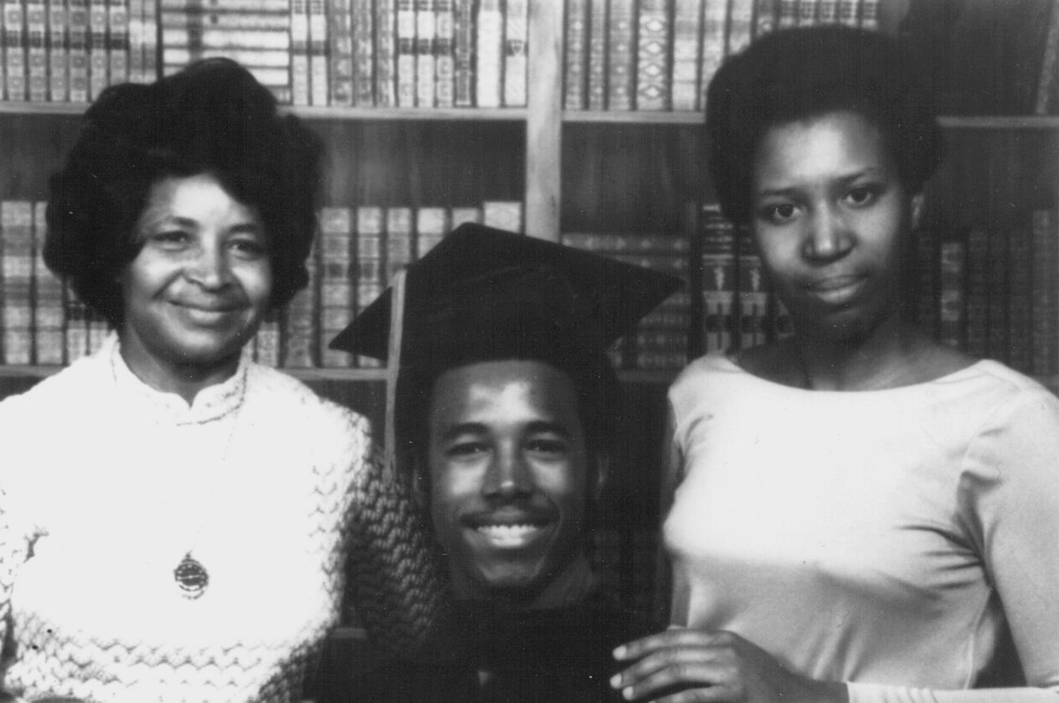 Ben Carson with his mother, Sonya, and his future wife, Candy after his graduation from Yale University, circa 1973.