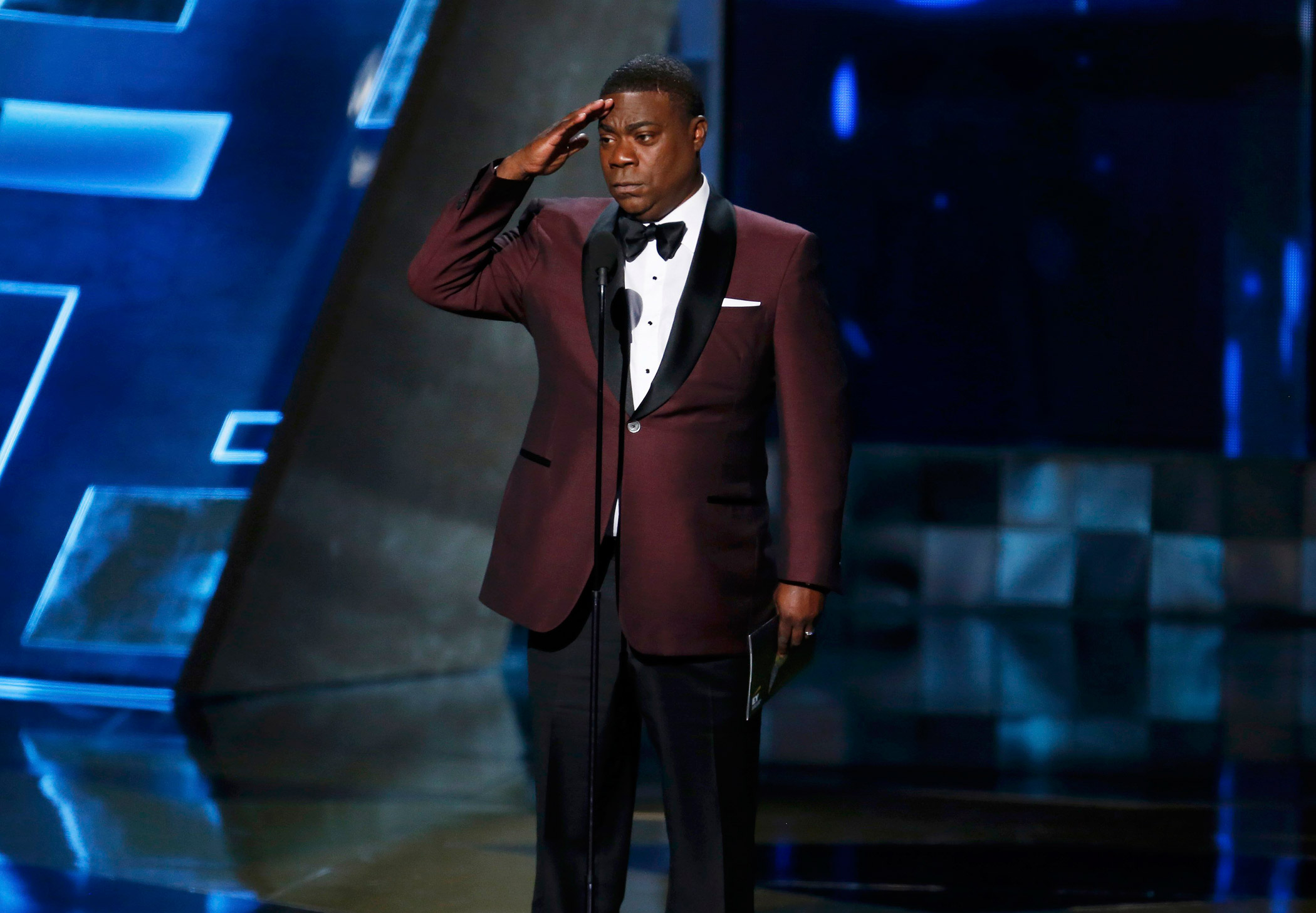 Tracy Morgan presents the Outstanding Drama Series award during the 67th Primetime Emmy Awards on Sept. 20, 2015 in Los Angeles.