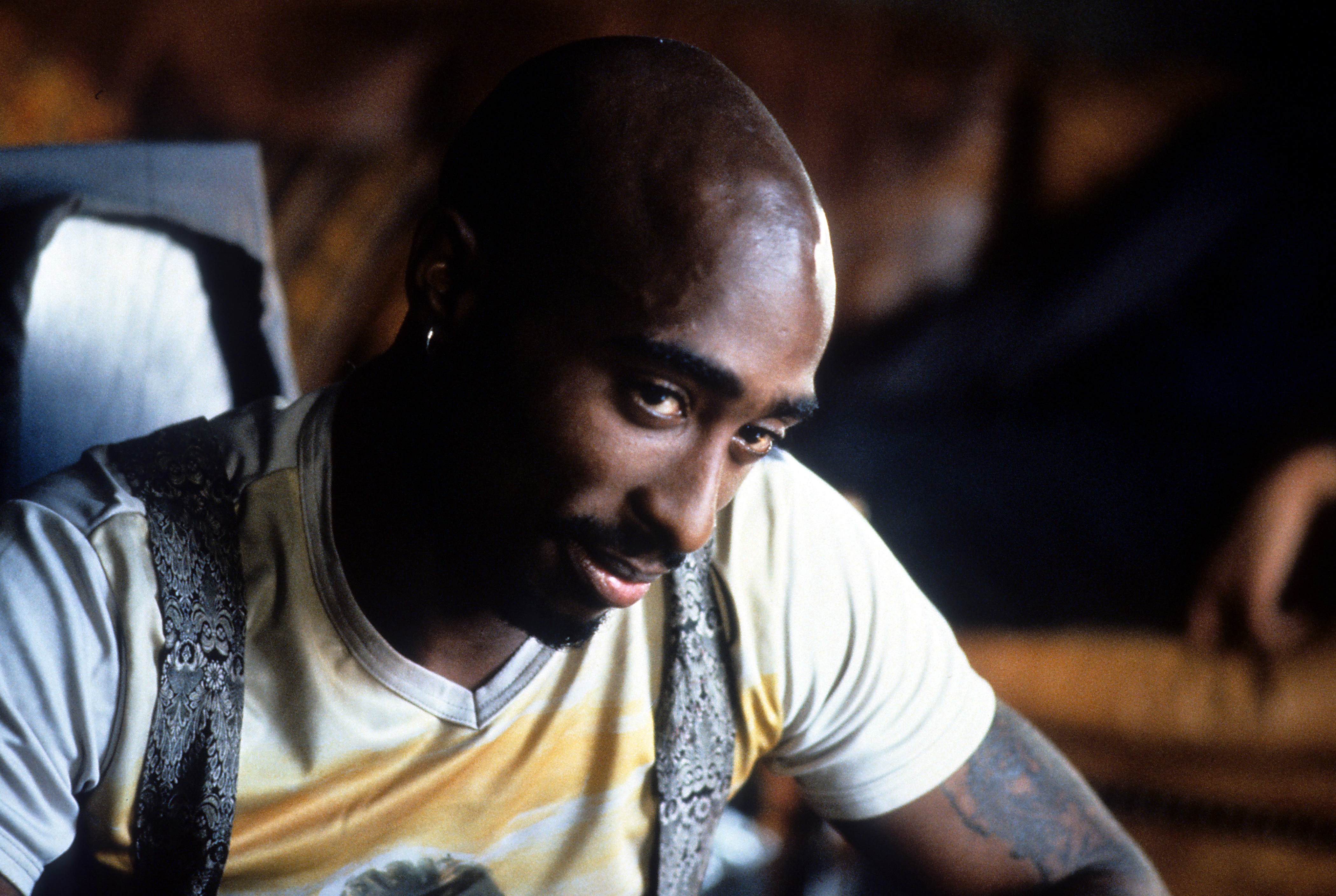 Tupac Shakur in a scene from the 1997 film Gridlock'd
