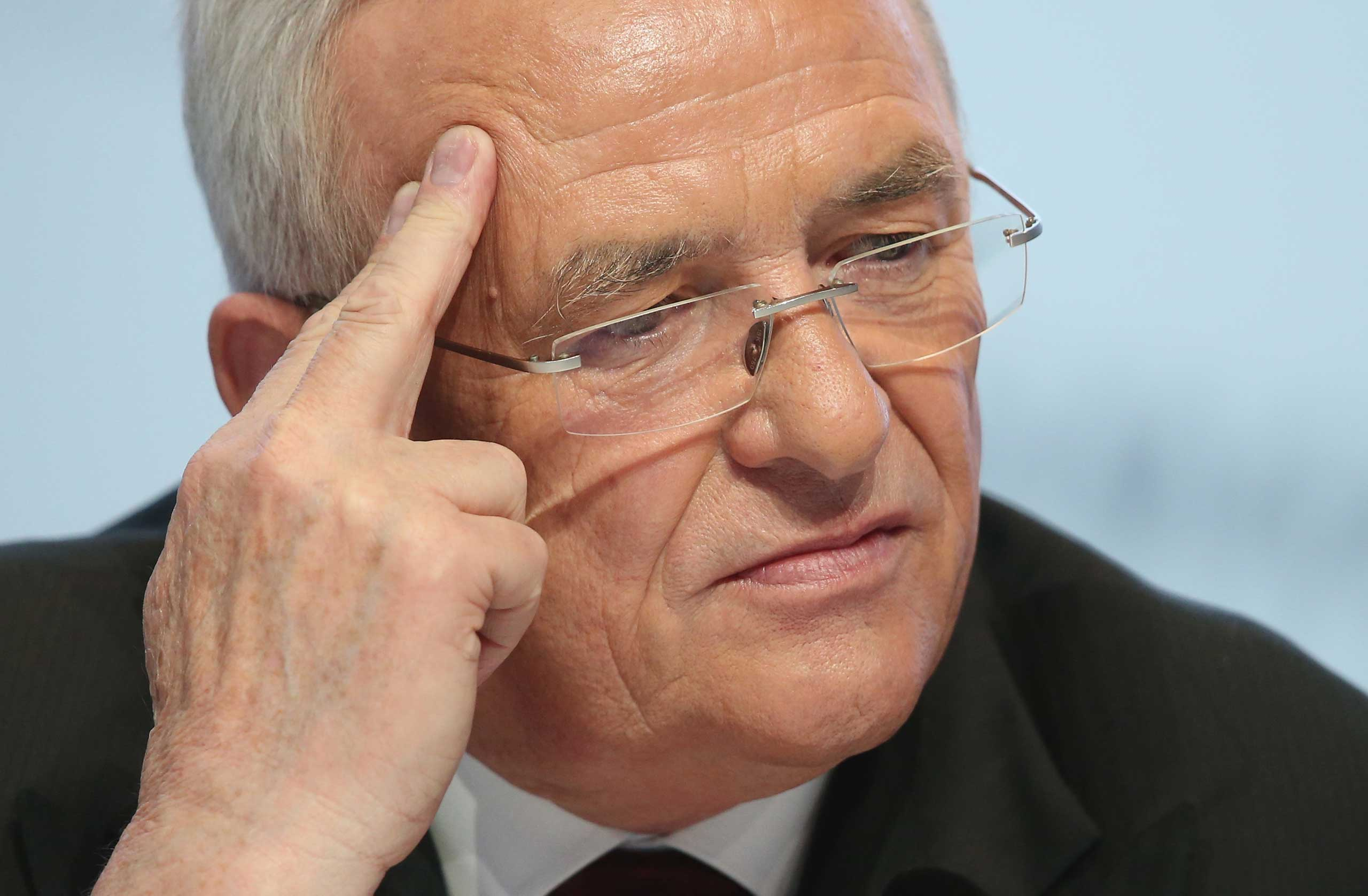 Volkswagen CEO Martin Winterkorn attends the company's annual press conference on March 13, 2014 in Wolfsburg, Germany.