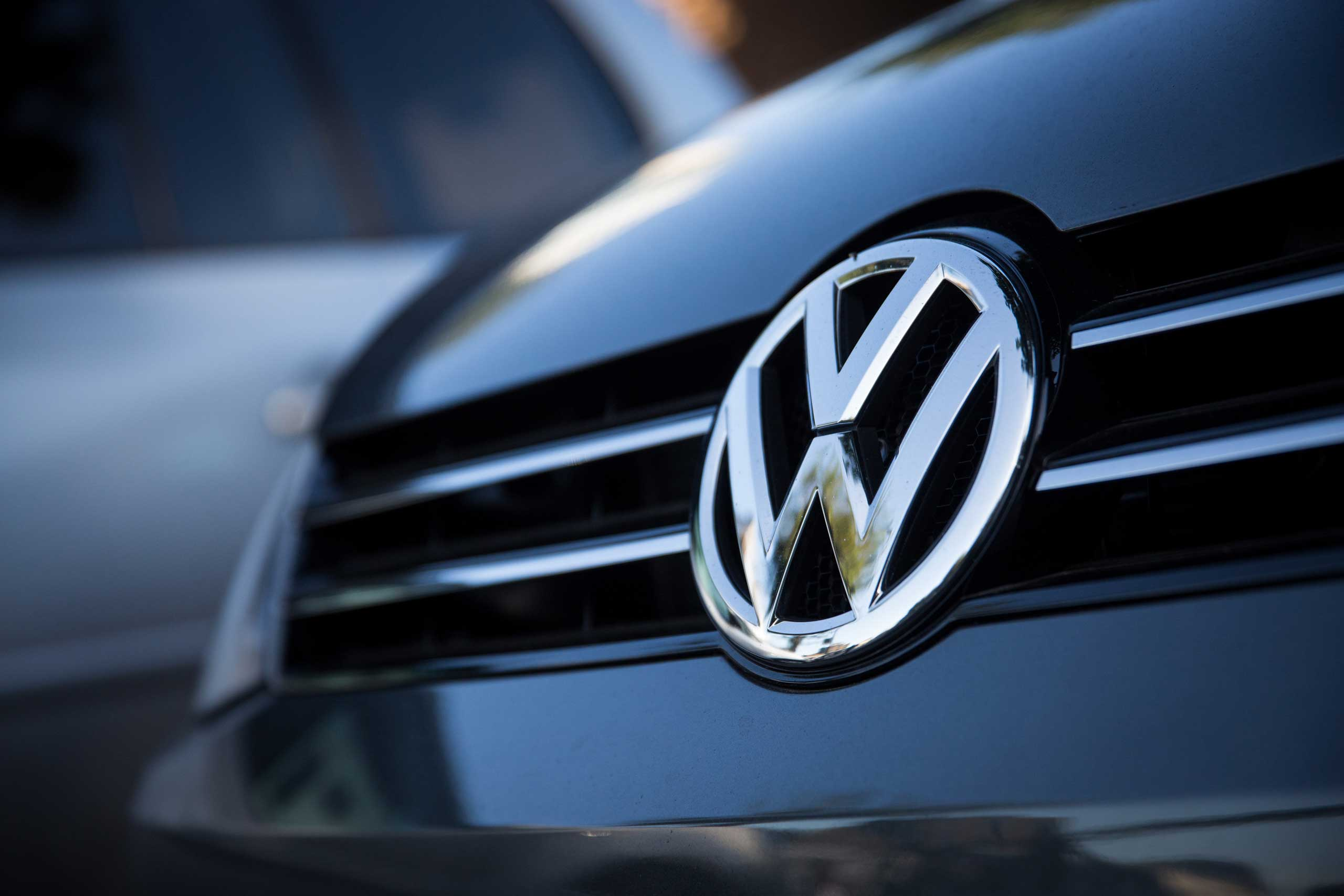 Used cars by German manufacturer Volkswagen are parked at a dealership in London, on Sept. 25, 2015