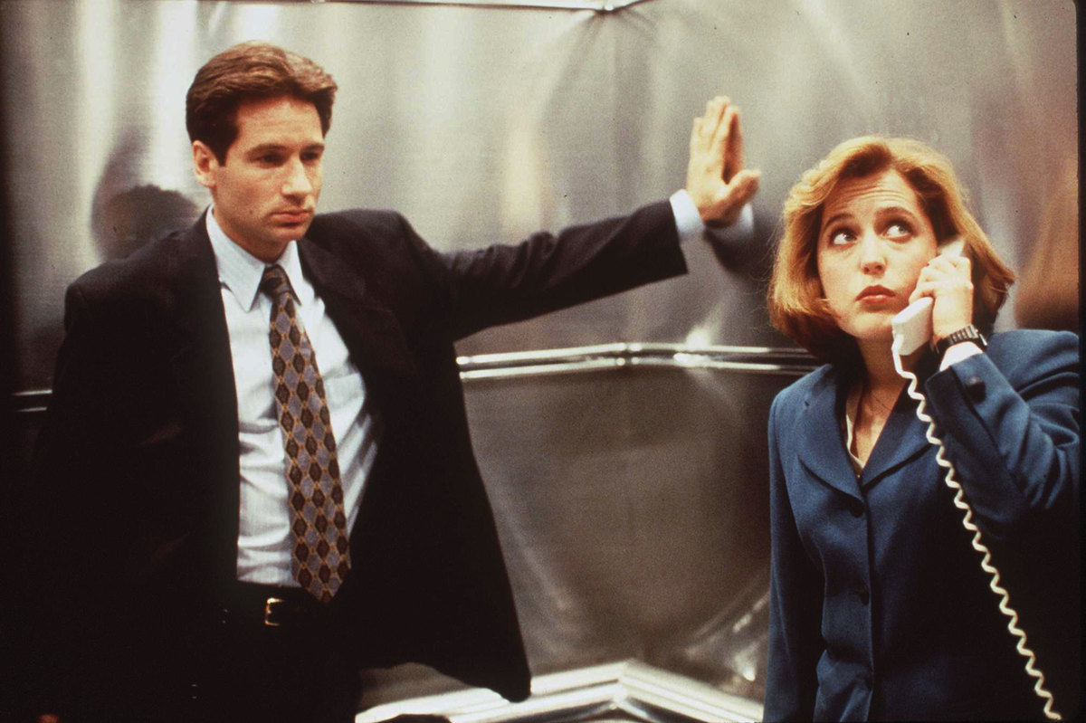 A 1996 scene from The X-Files
