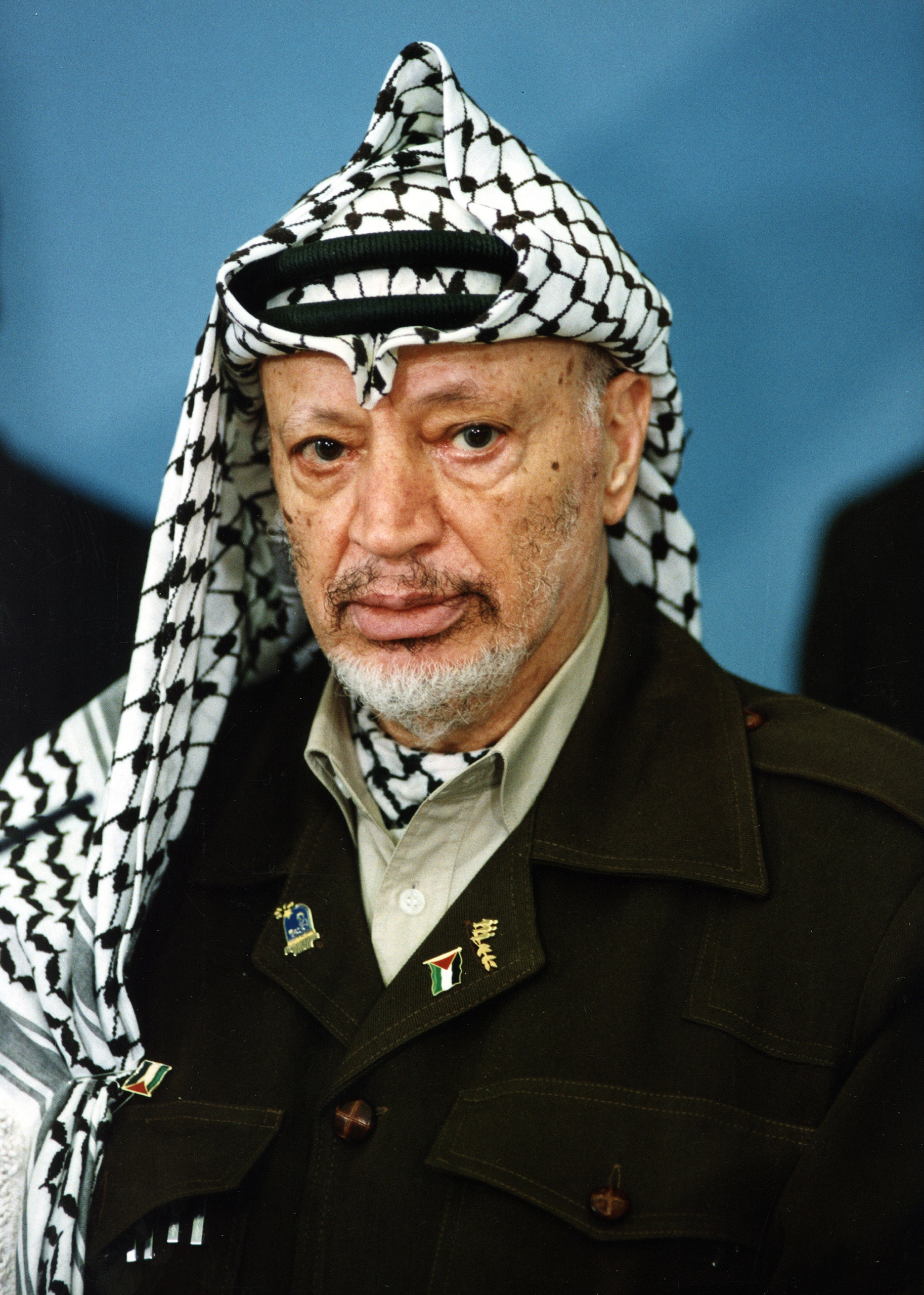 Yasser Arafat in a file photo from March 27, 2000.