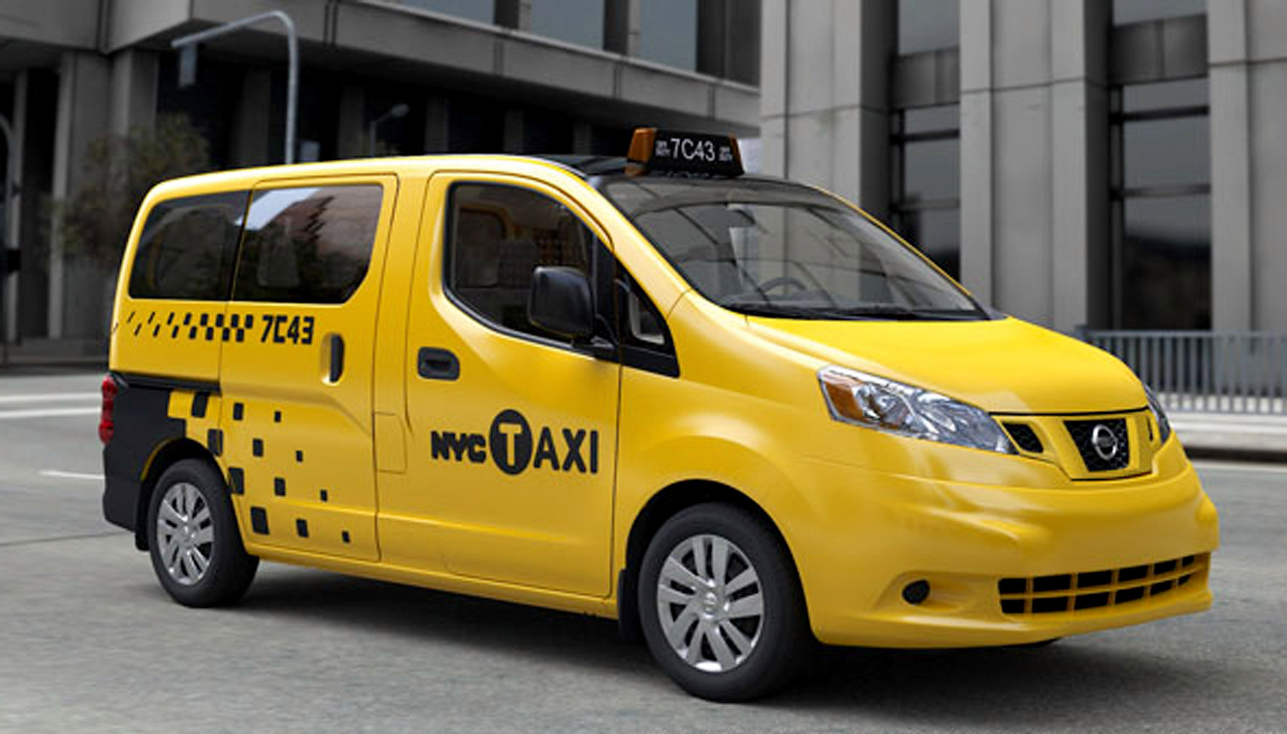 A Nissan NV200 is unveiled in New York City on April 2, 2012. New York City Mayor Michael Bloomberg announced that the vehicle would serve as the city's exclusive taxicab for the next decade. The iconic New York City taxi has gotten a 21st-Century makeover, with low-annoyance horns, USB chargers for passengers and germ-fighting seats to cut down on bad odors. Taxi operators will be required to buy the Nissan NV 200 at a cost of about $29,000 starting in late 2013.