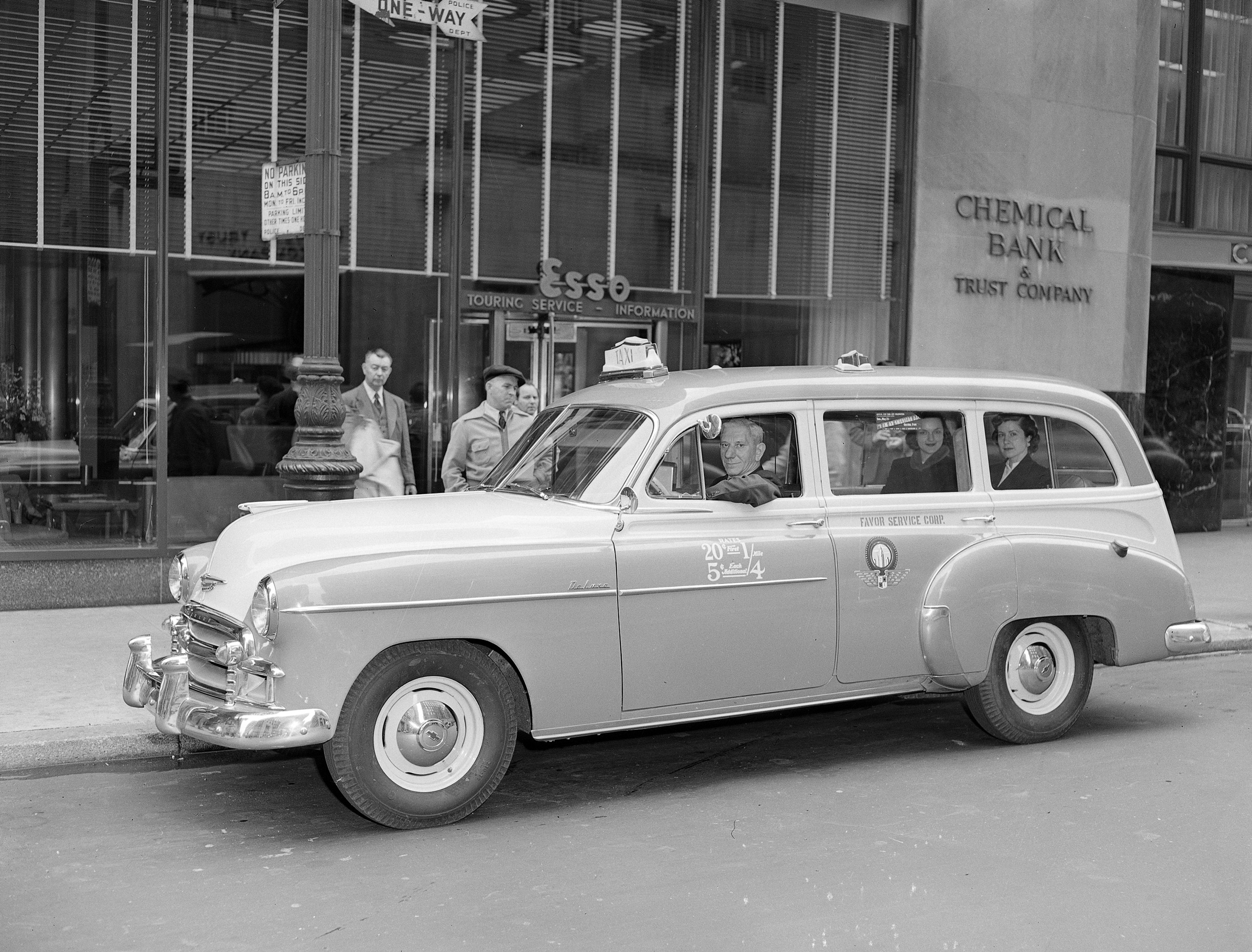 The new model taxicab from Chevrolet is shown in New York City, May 17, 1950.