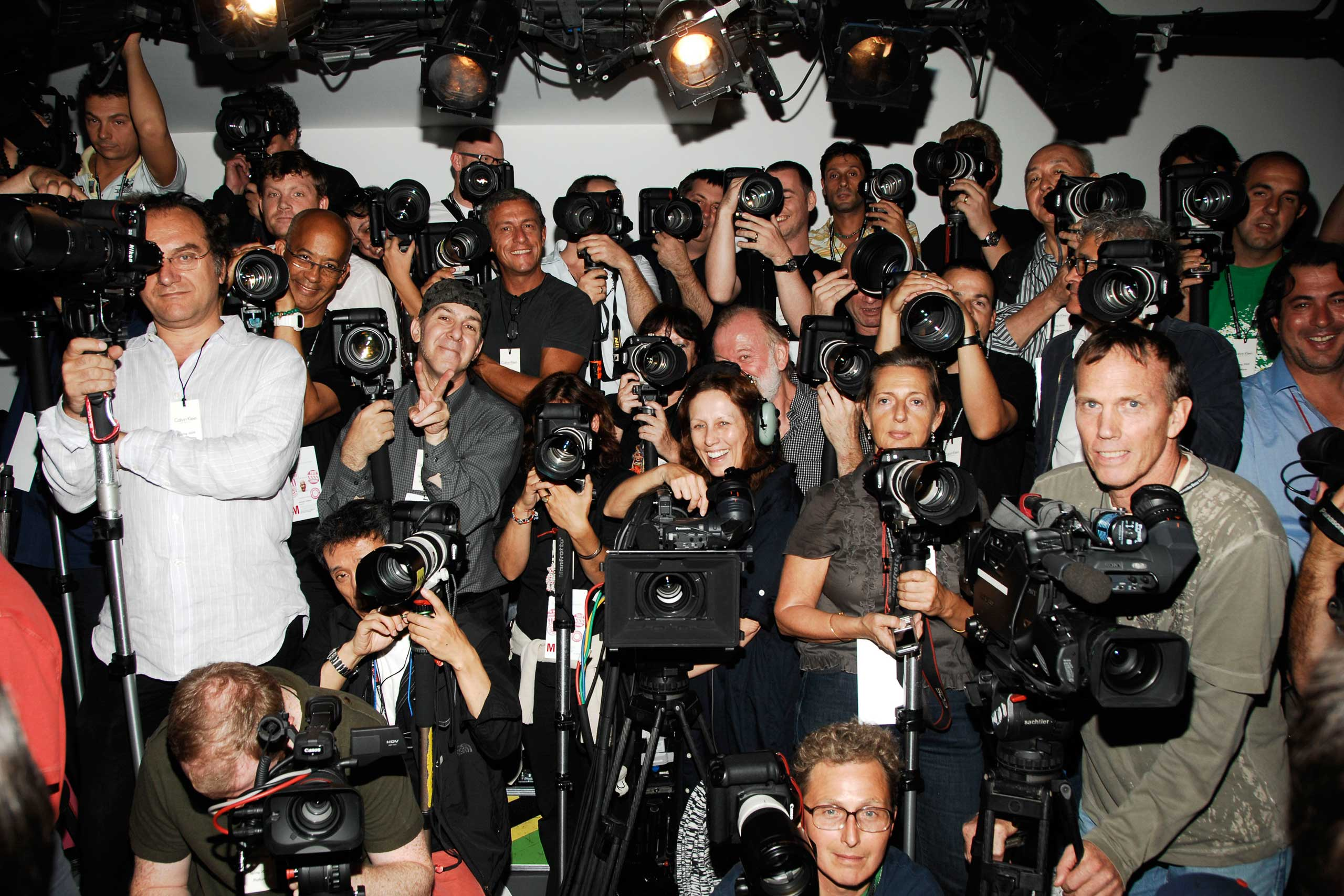 Photographer Pit, Calvin Klein Collection, Women's Spring 2009 Runway Show, Sept. 11, 2008.