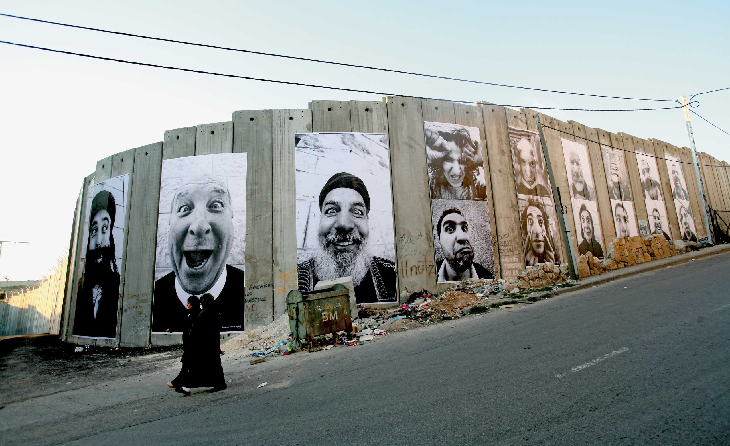Face 2 Face: Separation Wall, Palestinian side, Bethlehem, 2007.
