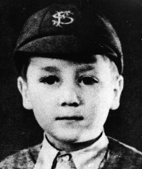 Portrait of John Lennon as a child, circa 1948.