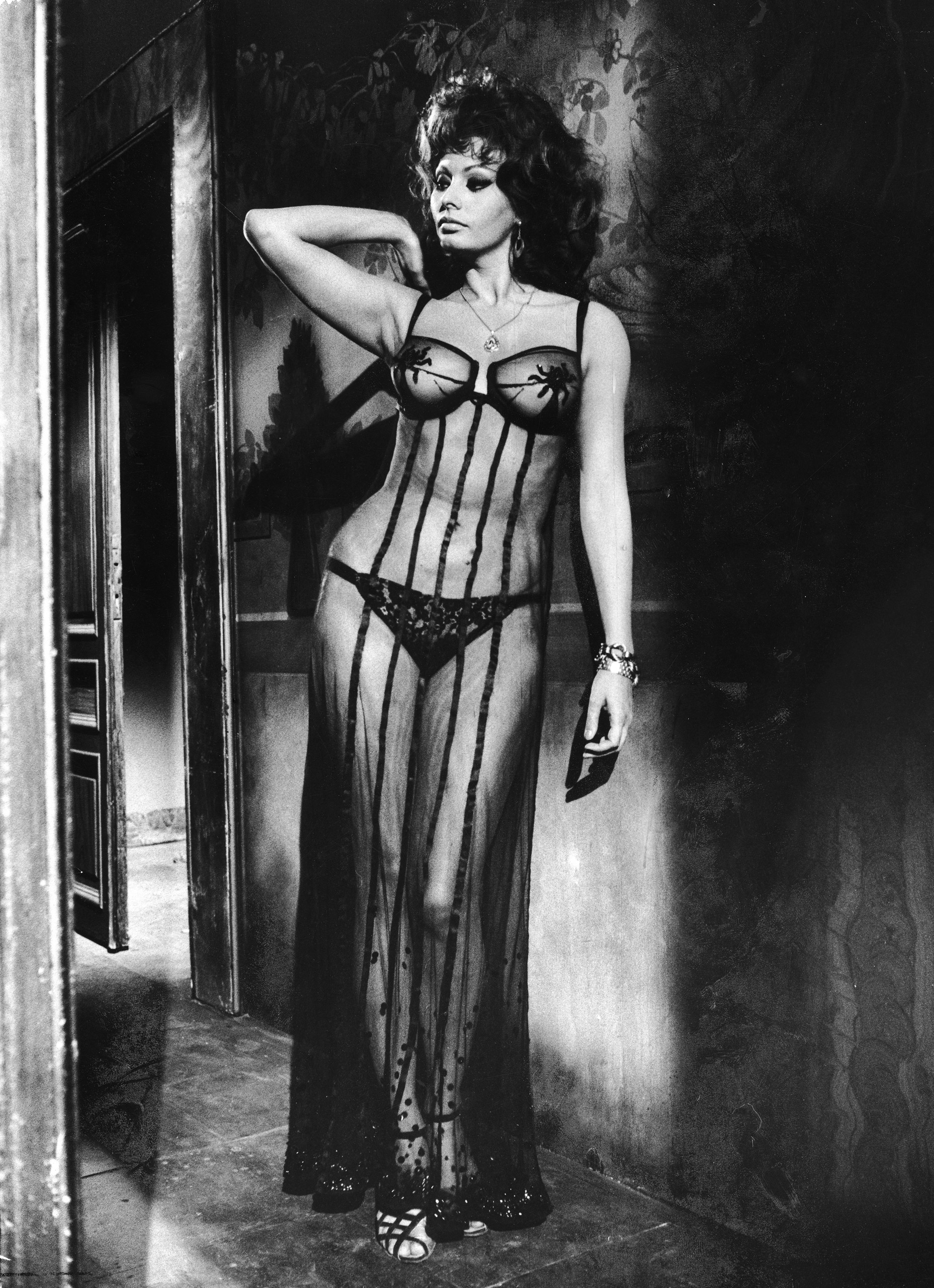 """Depending on weather and comfort level, consider Sophia Loren's sheer look from the brothel scene in the 1964 film """"Marriage Italian Style."""""""